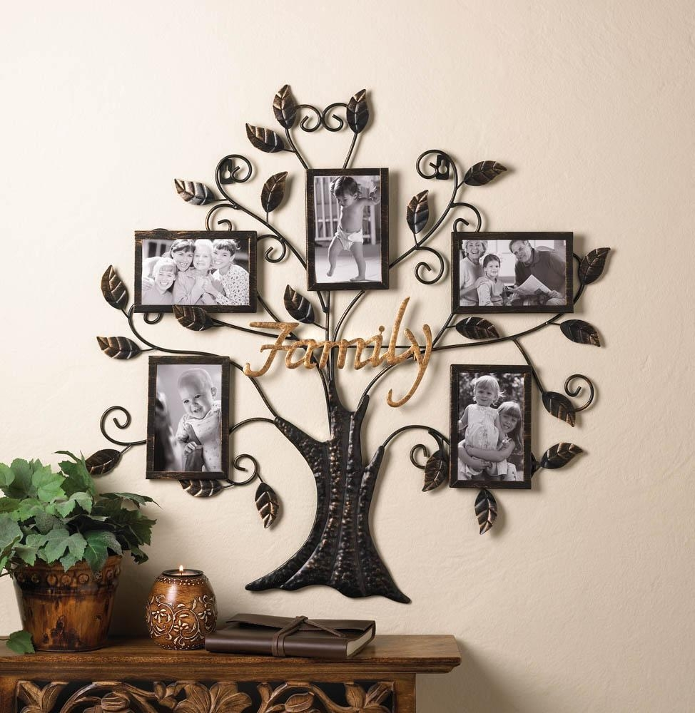 Family Tree Hanging Picture Frame Wall Decor – Eonshoppee In Wrought Iron Tree Wall Art (Image 2 of 20)