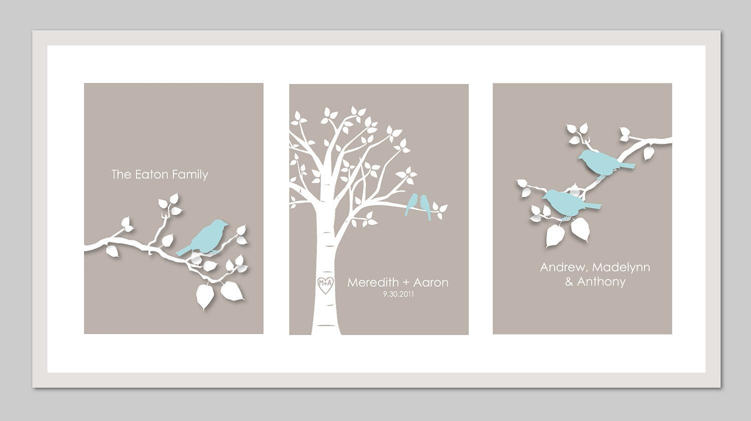 Family Tree Wall Art Personalized Family Tree Sign Last Name Throughout Personalized Family Wall Art (View 4 of 20)