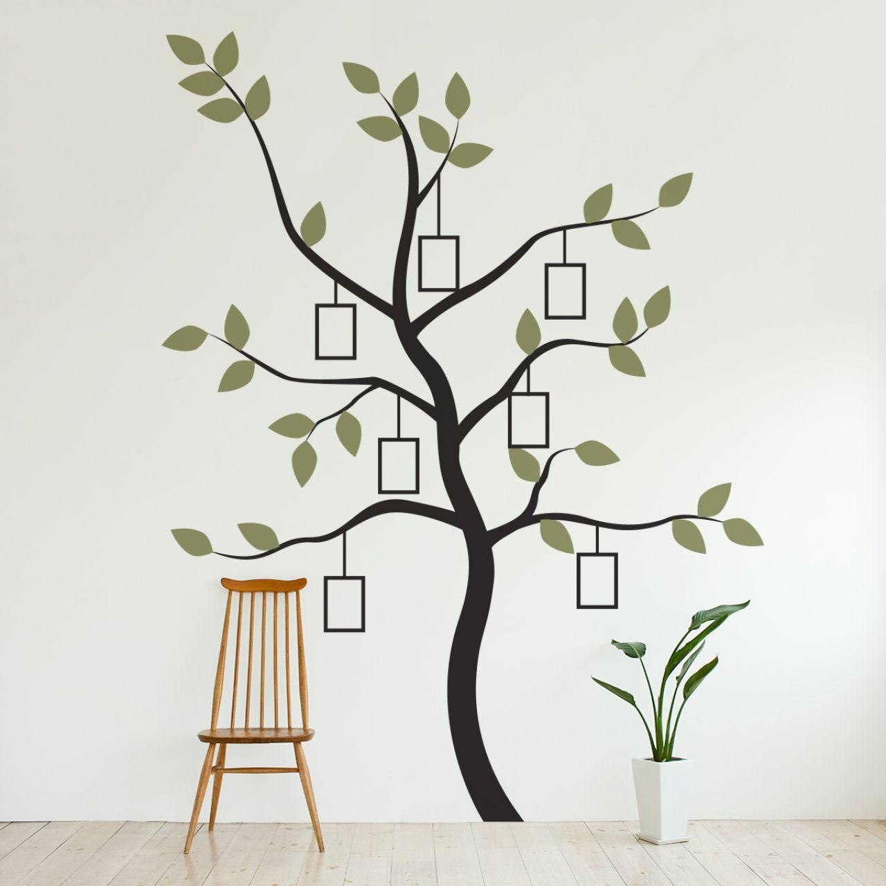 Family Tree Wall Decal With Picture Frame With Very Simple Wall With Kohls Wall Decals (Image 2 of 20)