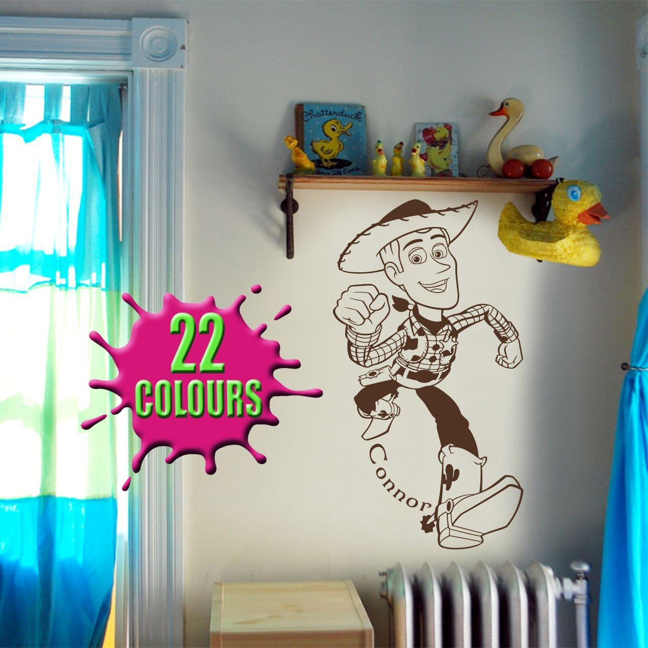 Fantastic Toy Story Woody Wall Art Decal Vinyl Sticker Wall Intended For Toy Story Wall Art (Image 8 of 20)