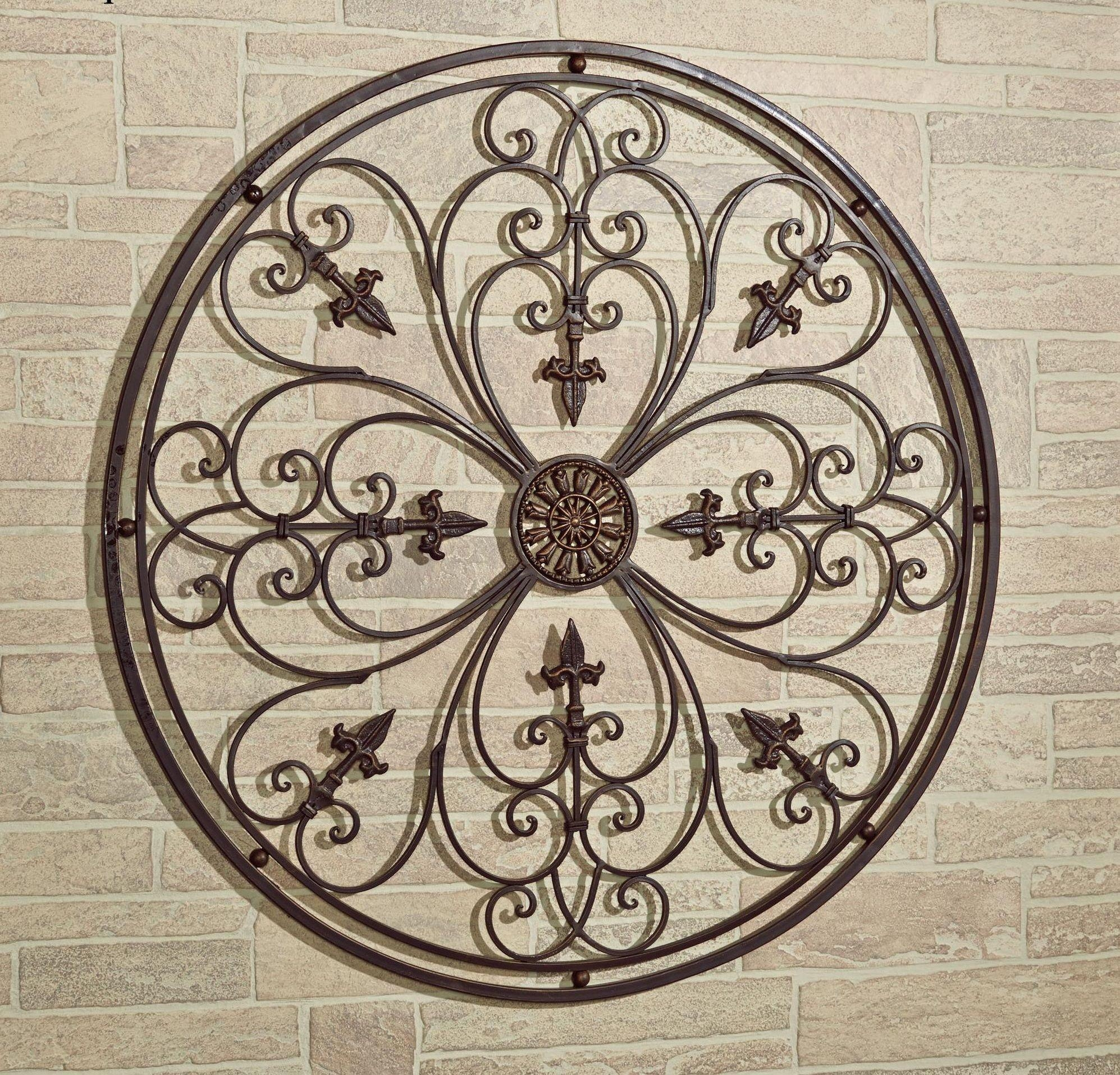 Fascinating Outdoor Metal Wall Art Sun And Moon Fiesta Sun Indoor With Wrought Iron Garden Wall Art (Image 5 of 20)
