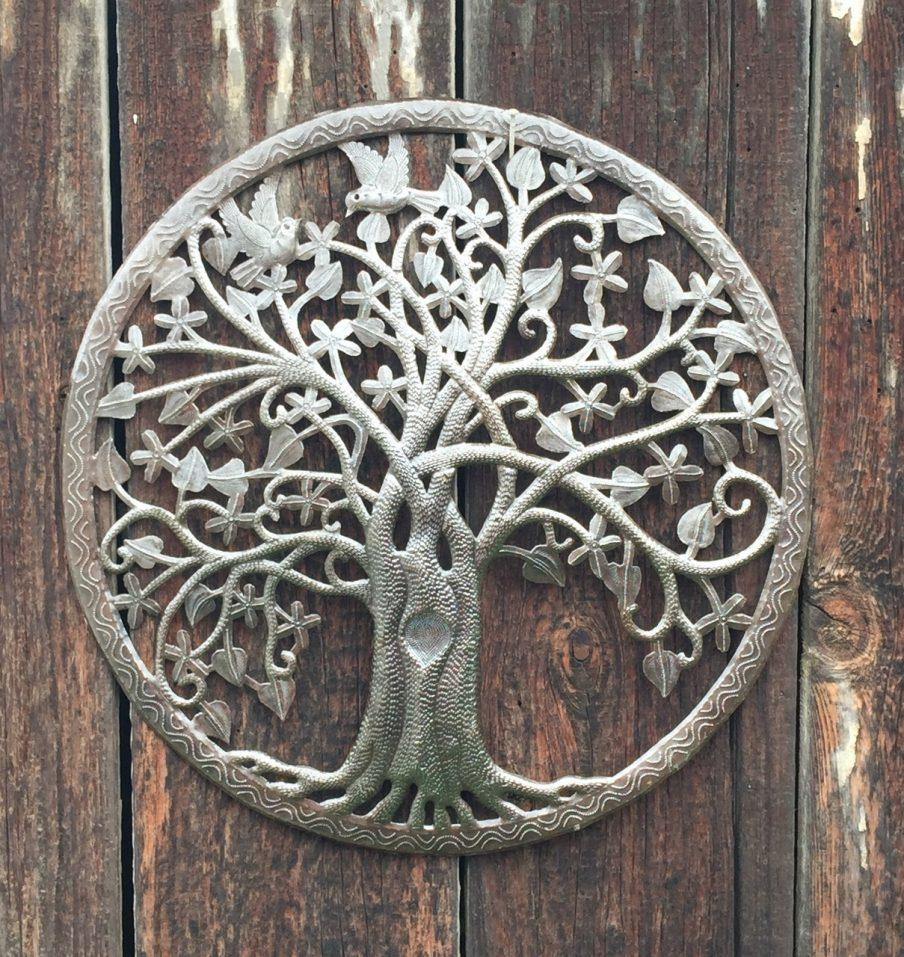 Fascinating Outdoor Patio Wall Art Metal Add A Special Touch Patio Intended For Large Metal Art (Image 5 of 20)