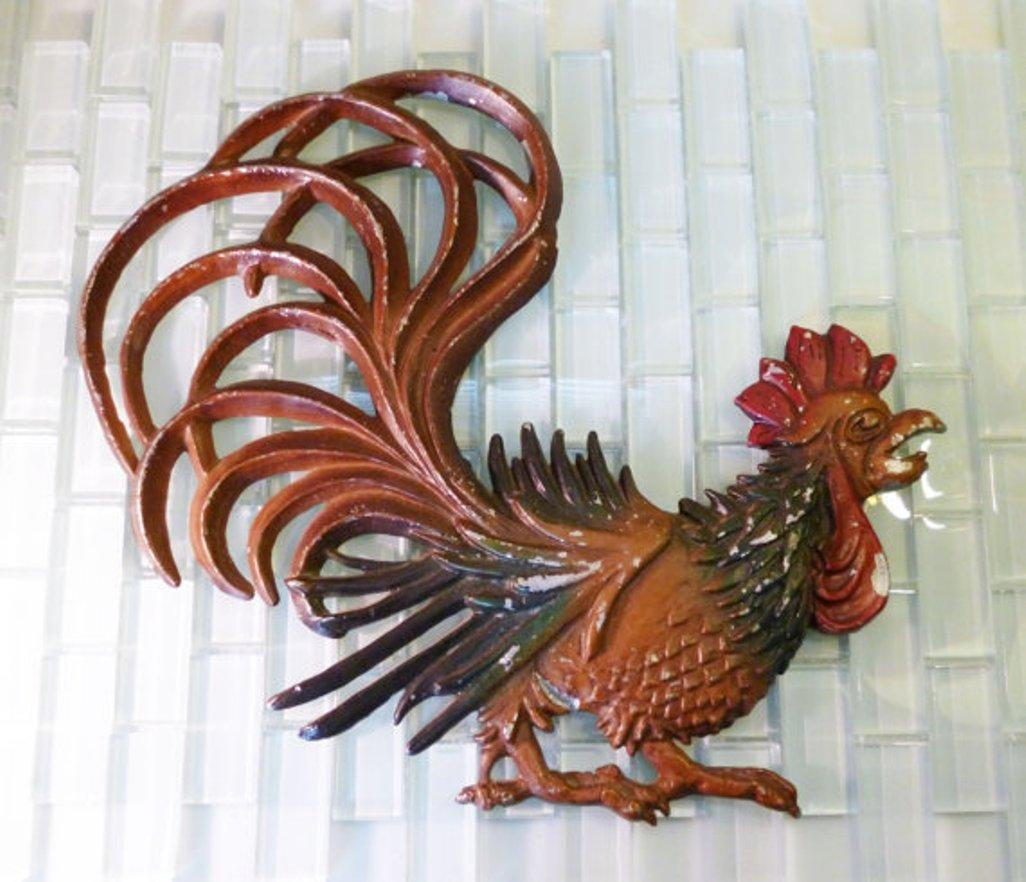 Fascinating Rooster Wall Decor Kitchen ~ Home Decorations Inside Metal Rooster Wall Decor (View 3 of 20)