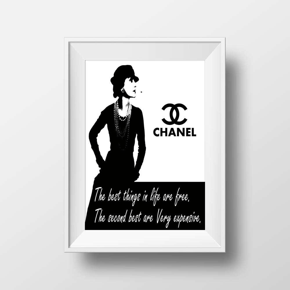 Fashion Art Print, Chanel Wall Decor Inside Chanel Wall Decor (Image 15 of 20)