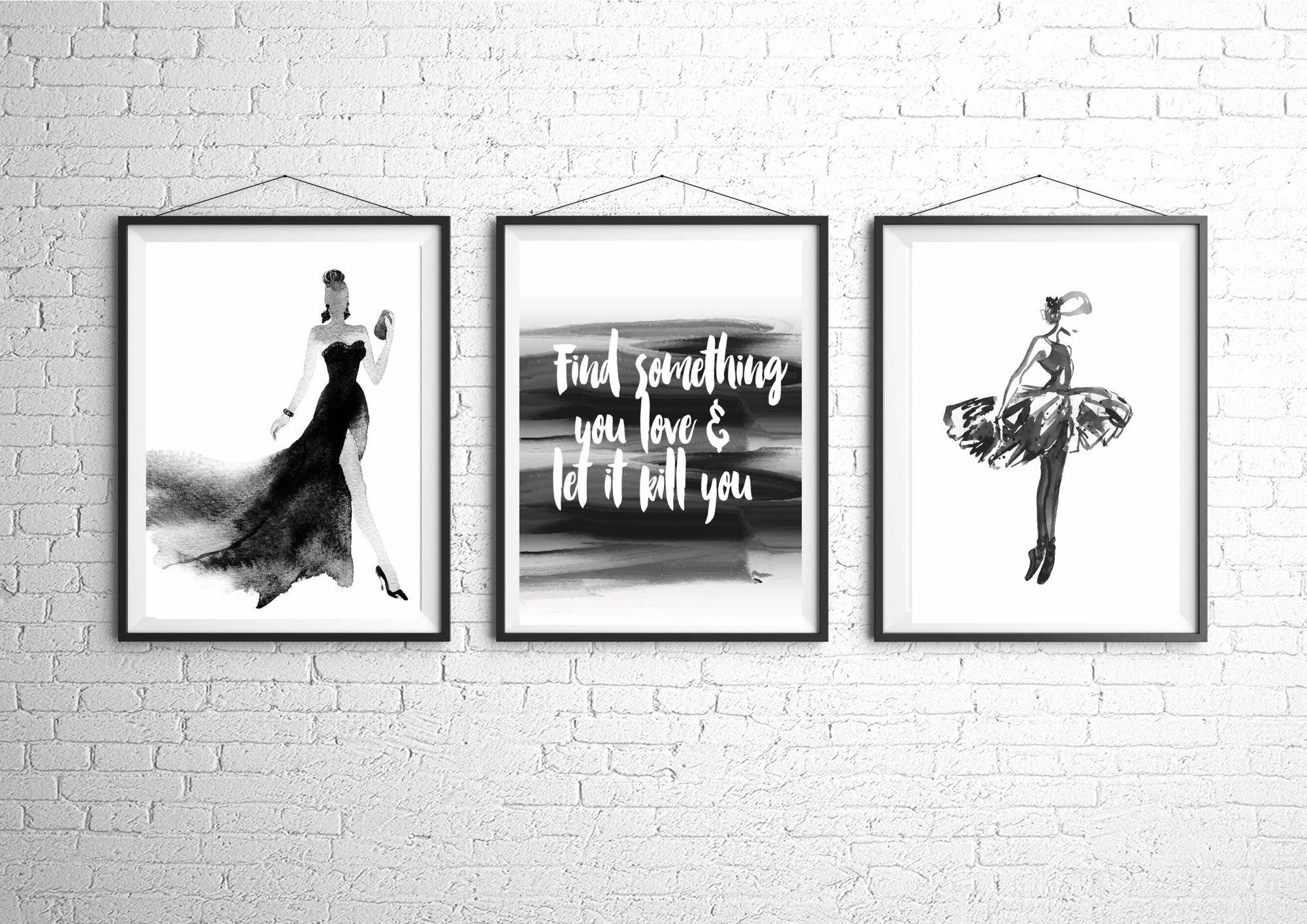 Fashion Illustration, Fashion Art Print, Fashion Poster, Vogue With Regard To Chanel Wall Decor (Image 16 of 20)
