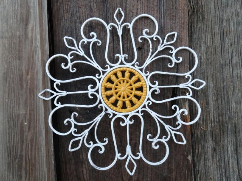 Faux Wrought Iron Wall Art For Under $5 Youtube White Wrought Iron In Faux Wrought Iron Wall Decors (Image 7 of 20)