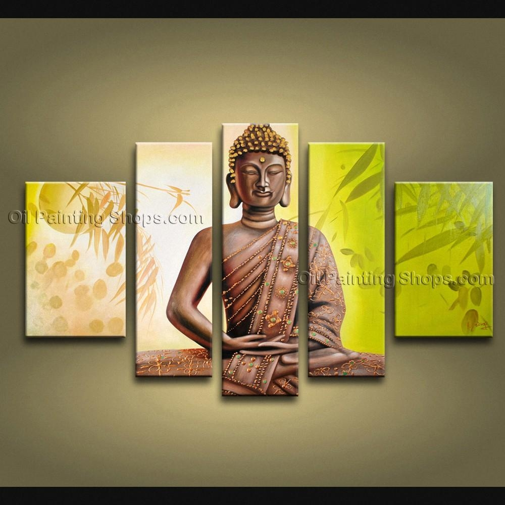 Feng Shui Zen Art Contemporary Painting Buddha Oil On Canvas Pertaining To Feng Shui Wall Art (Image 6 of 20)