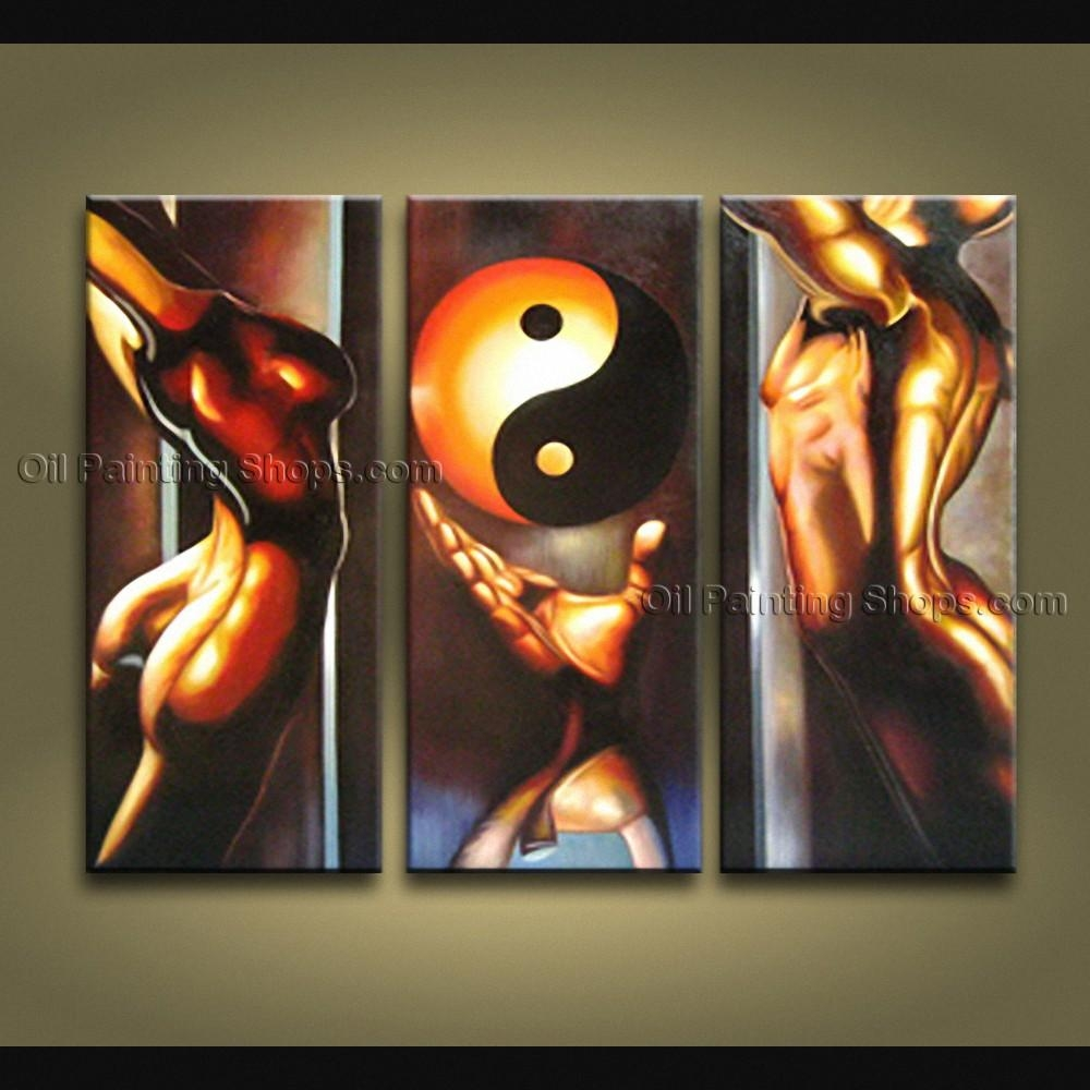Feng Shui Zen Art Contemporary Painting Interior Home Decor For Feng Shui Wall Art (Image 7 of 20)