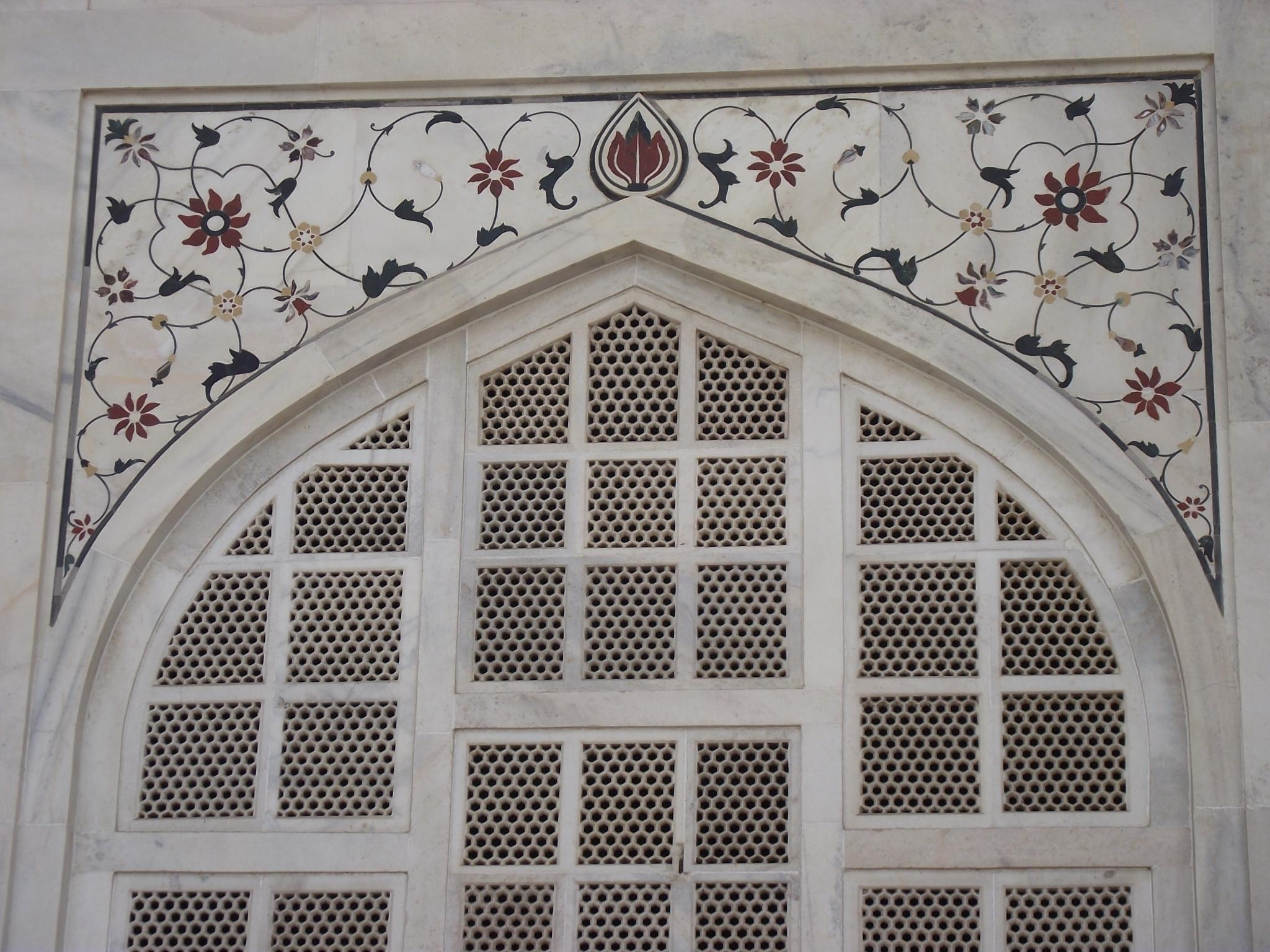 File:decoration Art At Taj Mahal – Wikimedia Commons With Taj Mahal Wall Art (View 5 of 20)