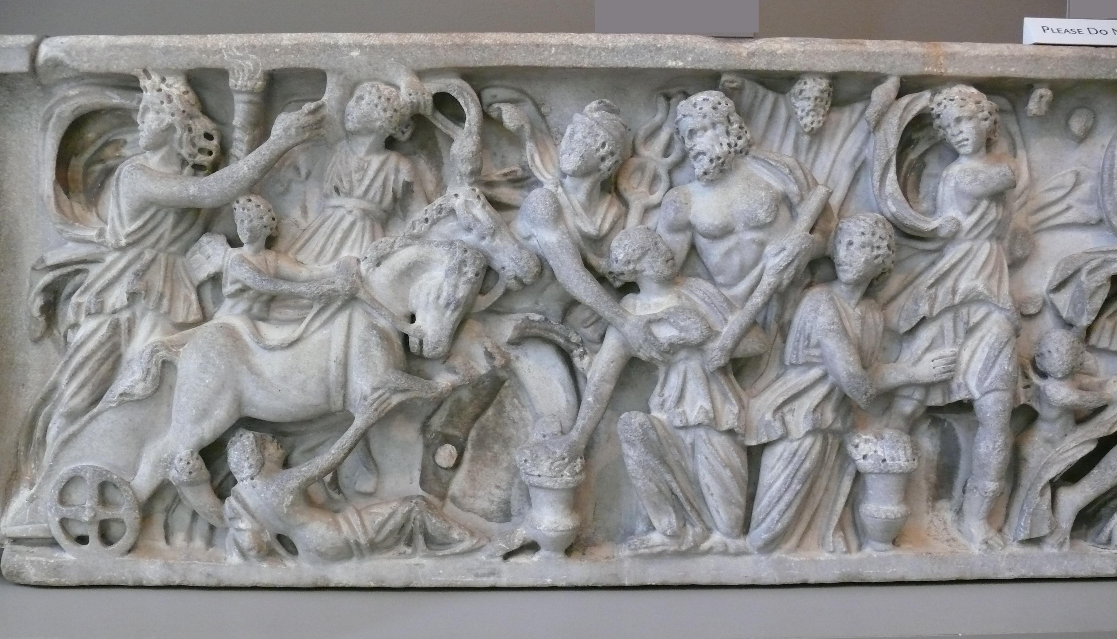 File:sarcophagus With The Abduction Of Persephonehades (Detail Inside Greek Wall Art (Image 8 of 20)