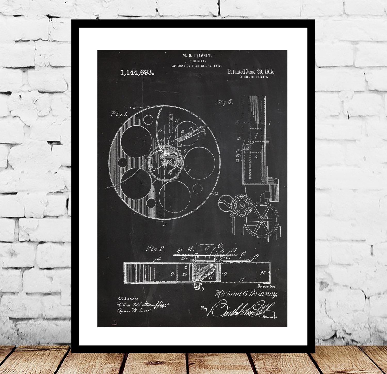 Film Reel Patent, Film Reel Poster , Film Reel Print, Film Reel Intended For Film Reel Wall Art (Image 10 of 20)