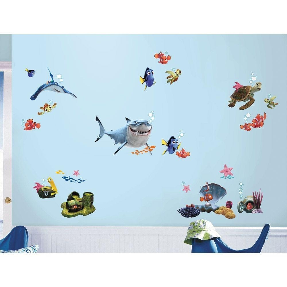 Finding Nemo Wall Decals | Roselawnlutheran Pertaining To Fish Decals For Bathroom (View 6 of 20)