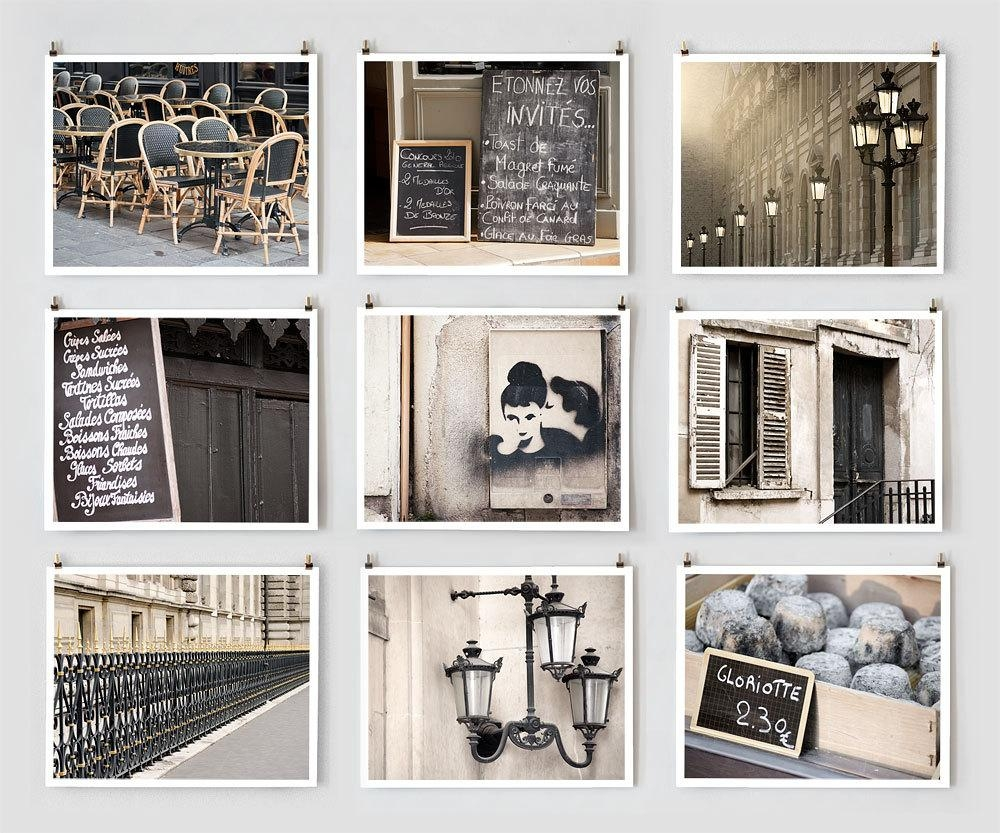 Fine Art Photography, Paris Gallery Wall Art Prints, Black Paris Within Extra Large Wall Art Prints (Image 7 of 20)