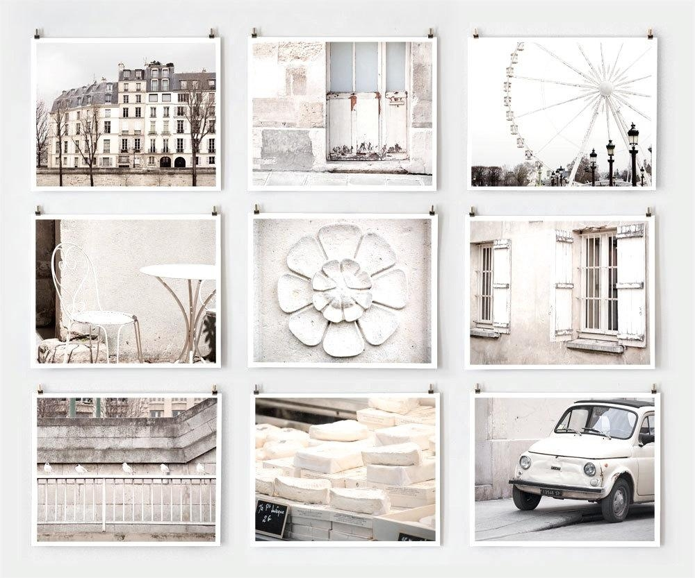 Fine Art Photography, Paris Gallery Wall Art Prints, White Paris Throughout Extra Large Wall Art Prints (Image 8 of 20)