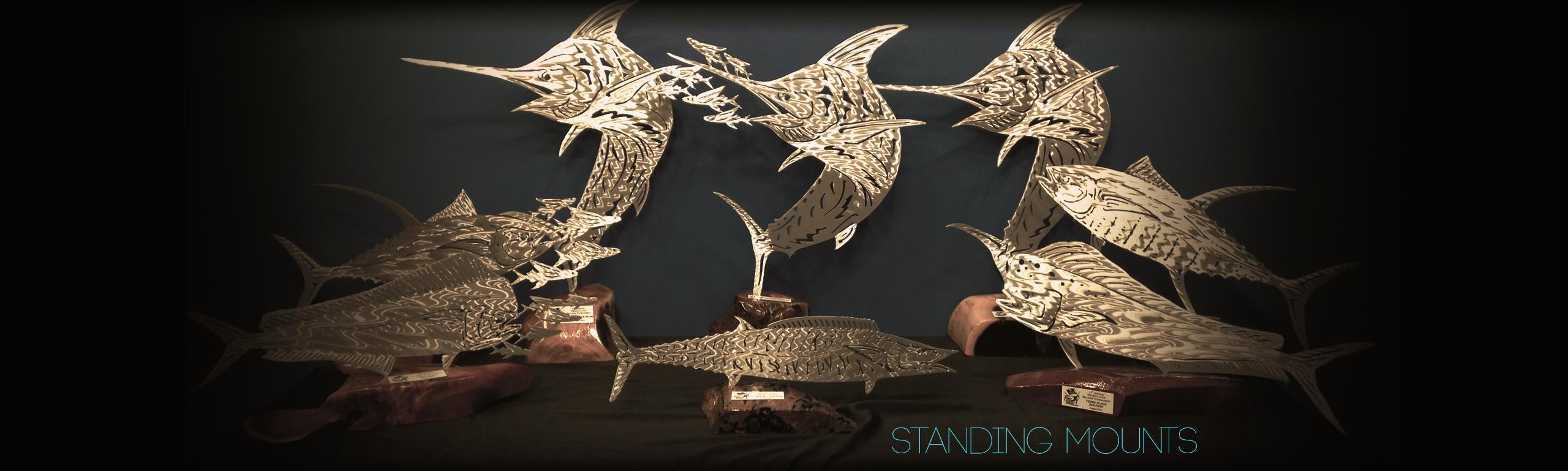 Fish Sculptures & Designs | Themetaledge With Regard To Fish Bone Wall Art (Image 15 of 20)