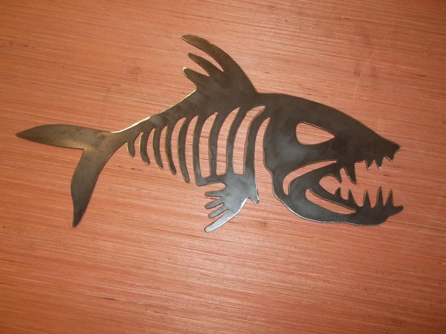 Fish Skeleton Dxf And Svg Files ~ Plasma Cutting Water Jet Laser Intended For Fish Bone Wall Art (Image 16 of 20)