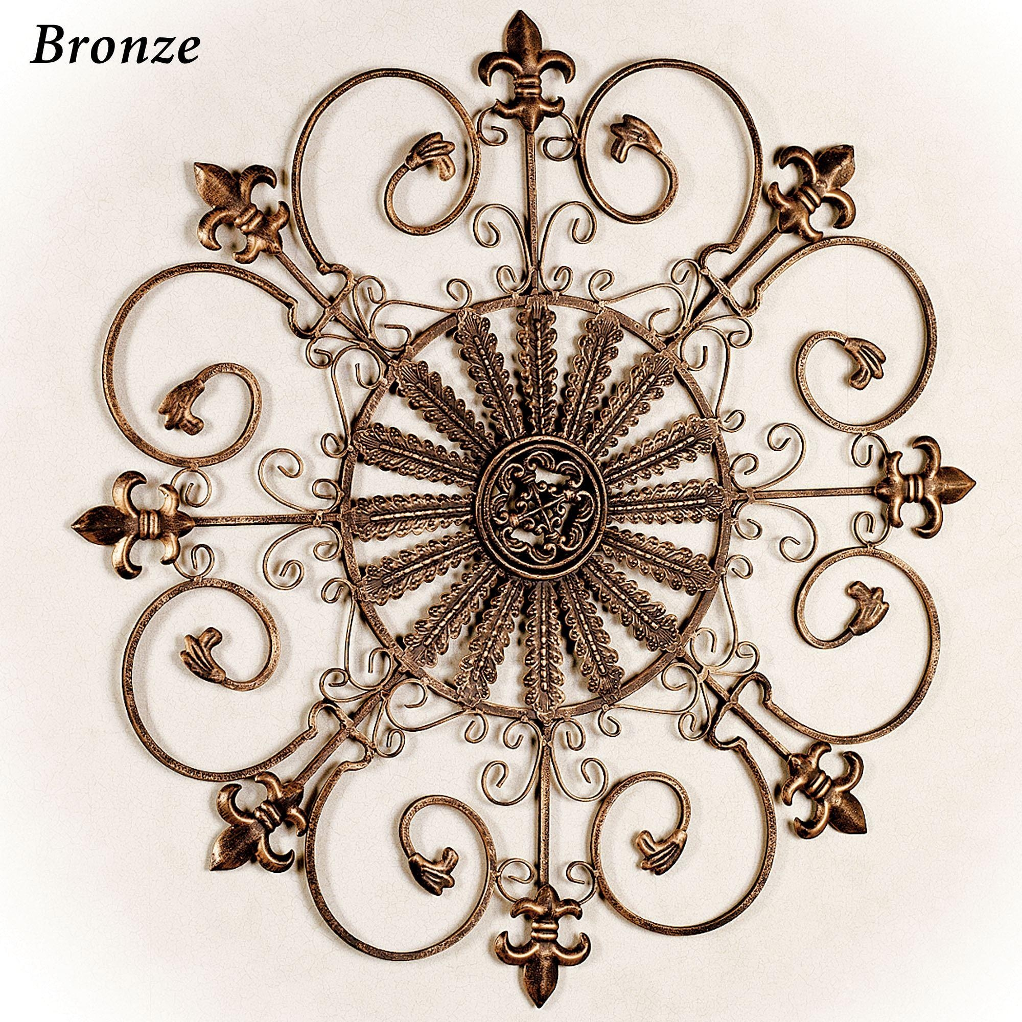 Fleur De Lis Metal Wall Grille With Fleur De Lis Metal Wall Art (Image 3 of 20)