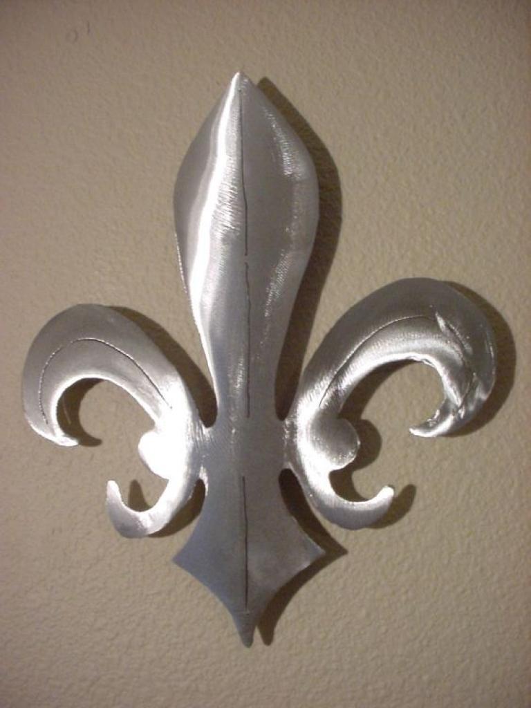 Fleur De Lis New Orleans Saints Metal Wall Art Steel Fluer Home With Regard To Metal Fleur De Lis Wall Art (Image 7 of 20)