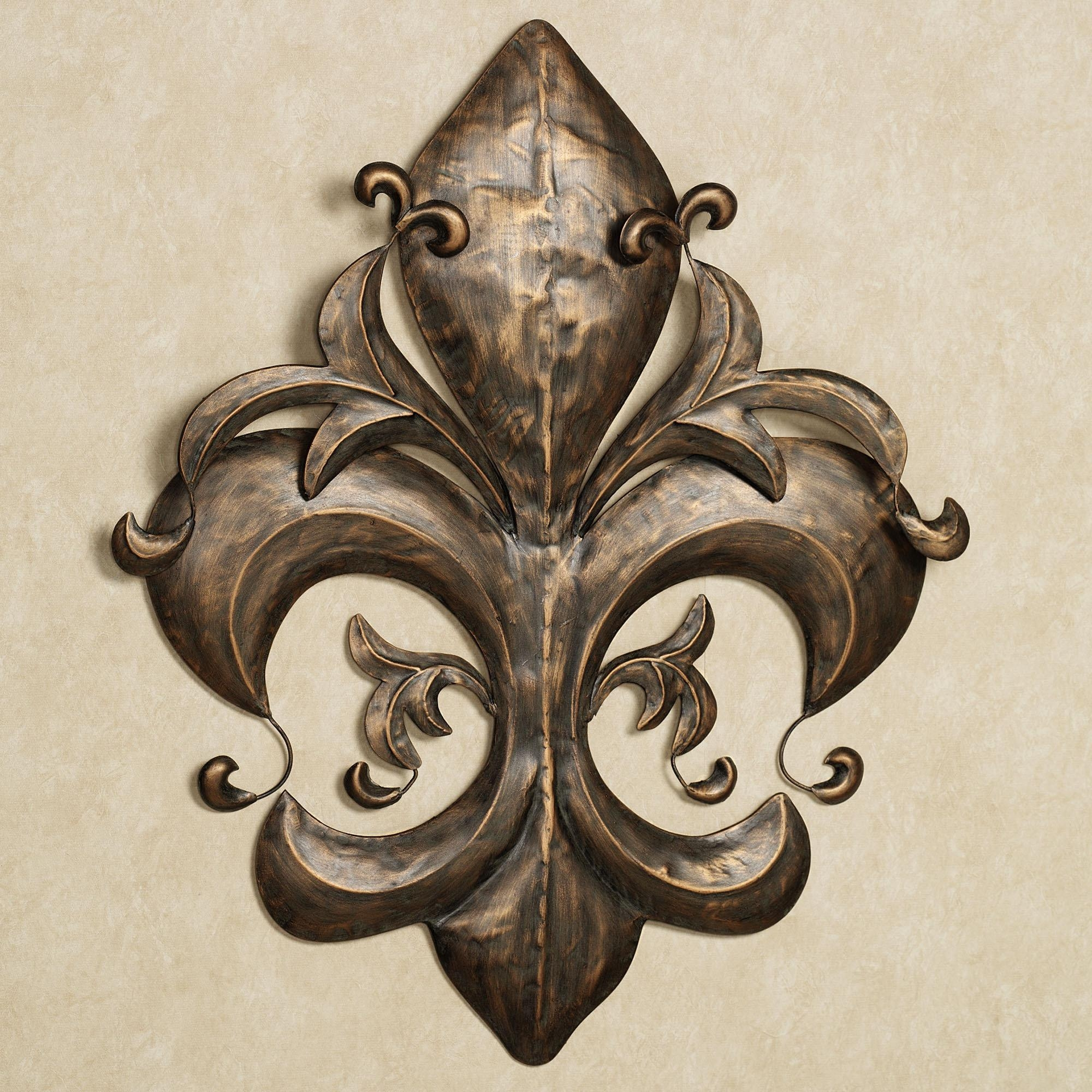 Fleur De Lis Wrought Iron Wall Art : Fleur De Lis Metal Wall Decor For Metal