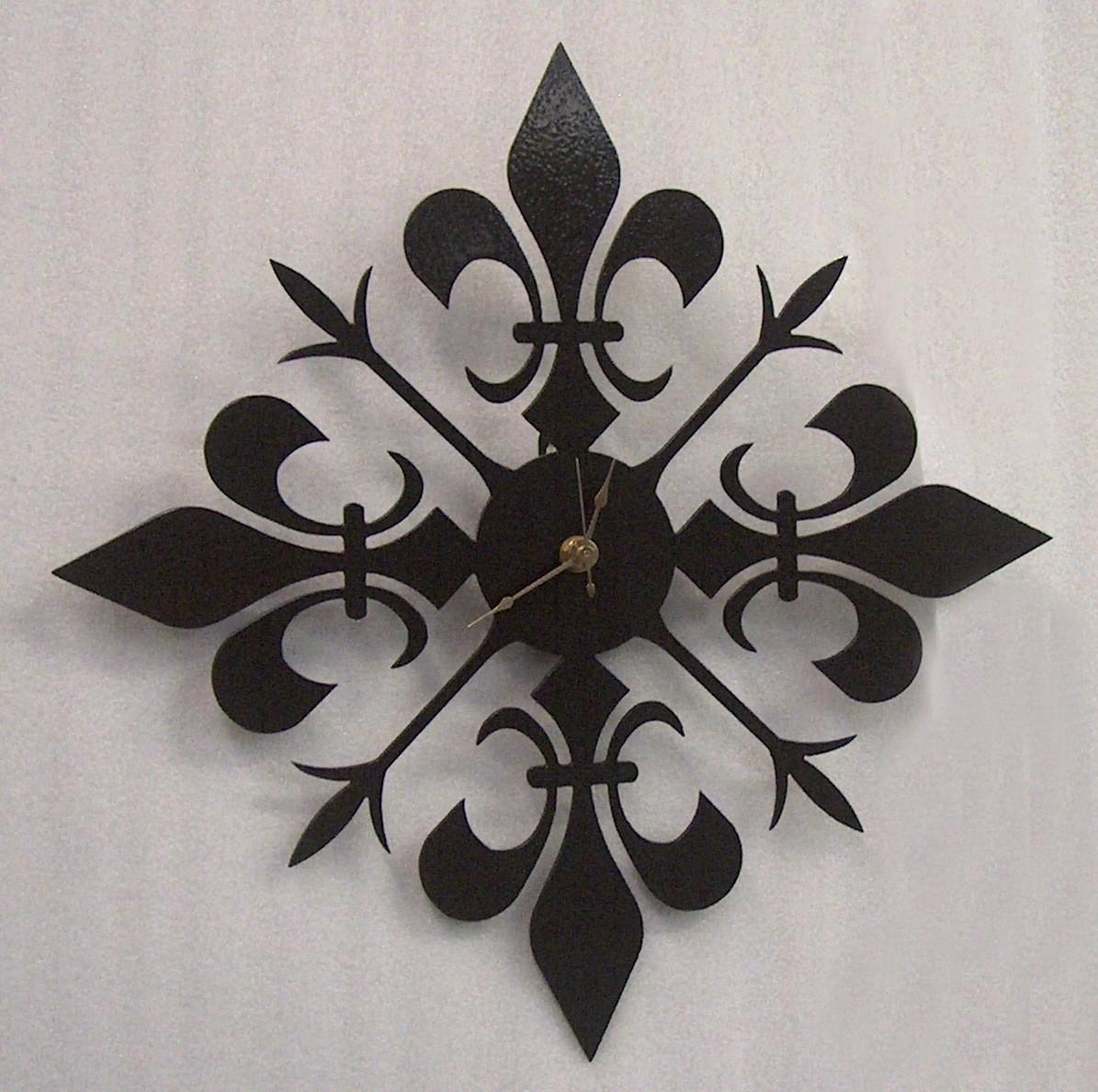 Fleur De Lis Wrought Iron Wall Art : Fleur De Lis Metal Wall Decor With Regard To Fleur De Lis Metal Wall Art (Image 9 of 20)
