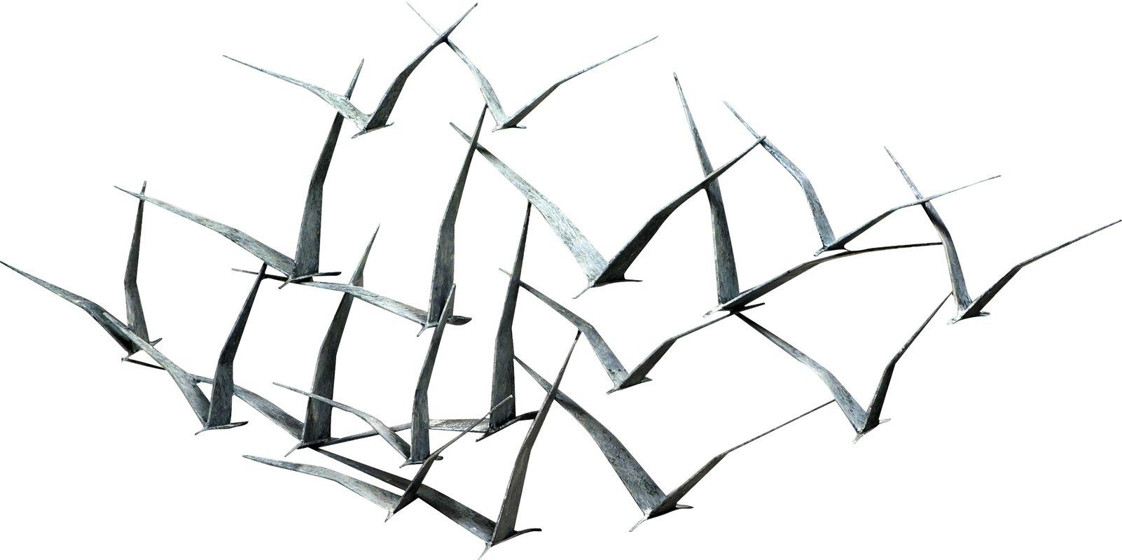 Flock Of Birds Metal Wall Art – Shenra In Flock Of Birds Metal Wall Art (View 20 of 20)