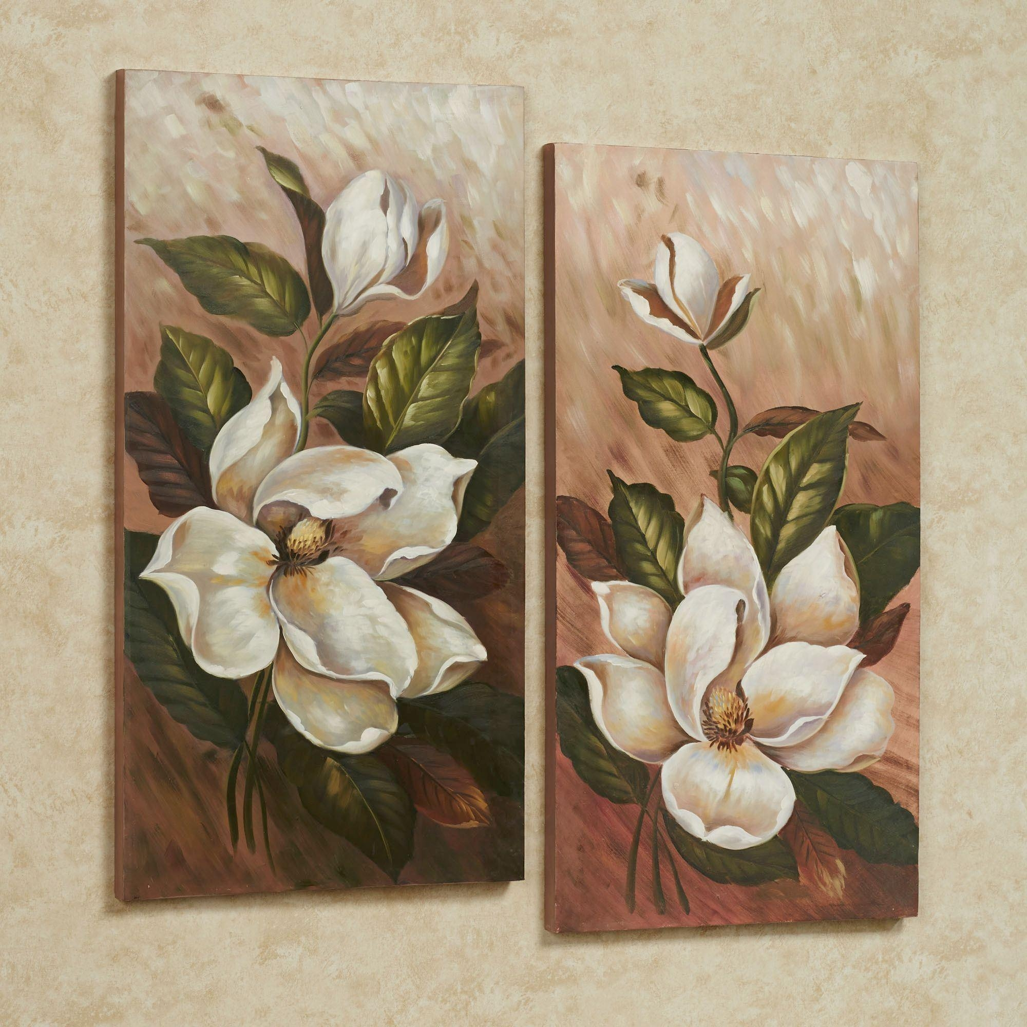 Floral And Botanical Canvas Wall Art | Touch Of Class Throughout Flower Wall Art Canvas (View 10 of 20)