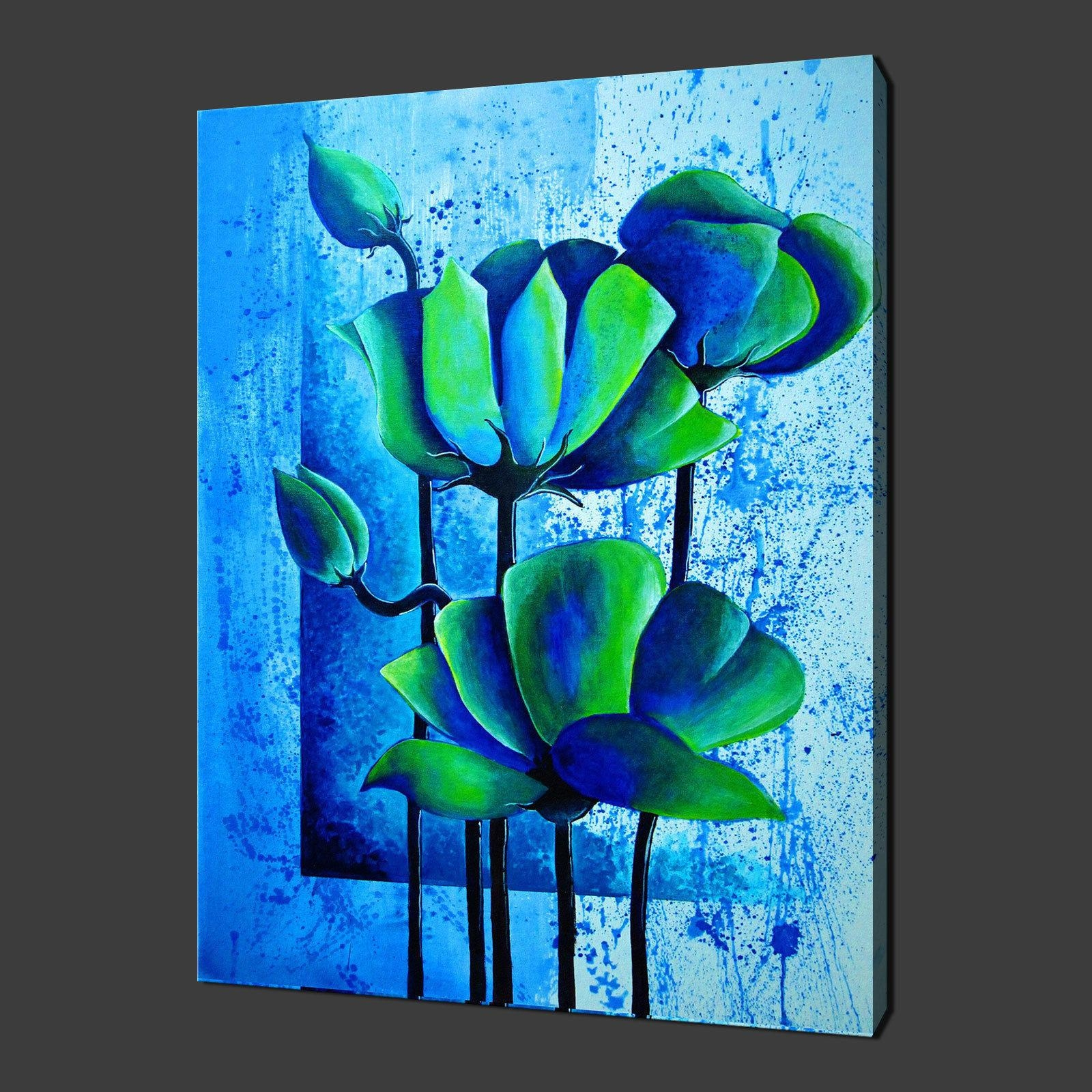 Floral Archives – Canvas Print Art In Blue And Green Wall Art (View 19 of 20)