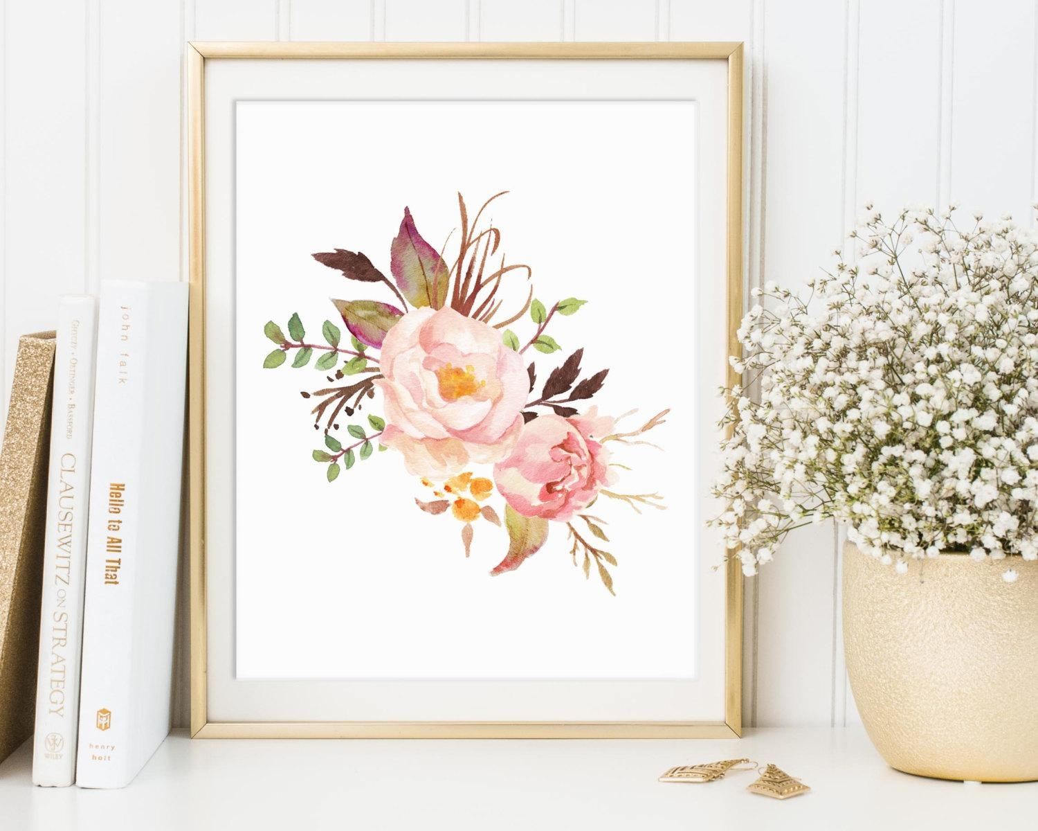 Floral Print Floral Decor Floral Wall Art Floral Printable Intended For Floral & Plant Wall Art (Photo 6 of 20)