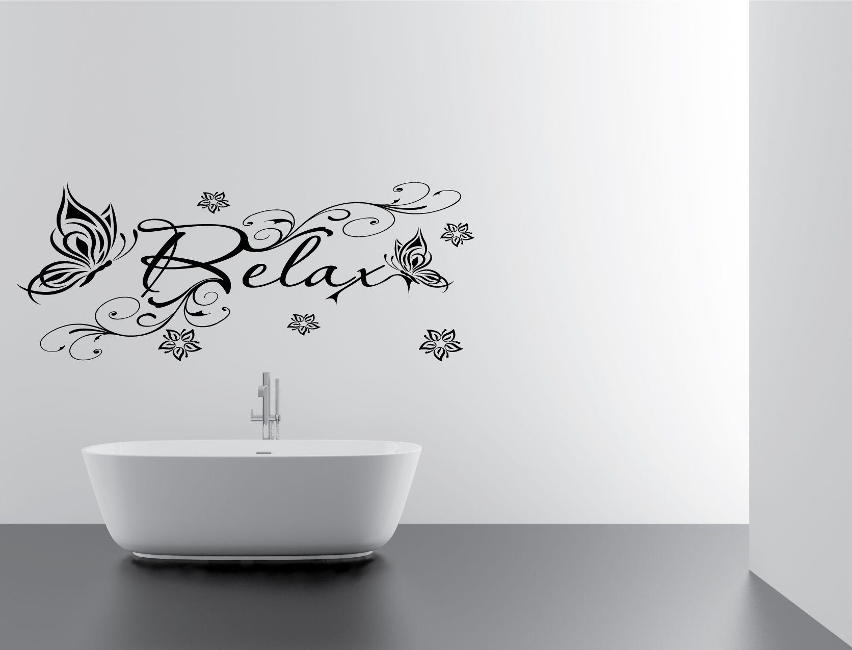 Floral Relax Bathroom Vinyl Wall Art, Decal, Sticker, Cloakroom With Shower Room Wall Art (View 13 of 20)