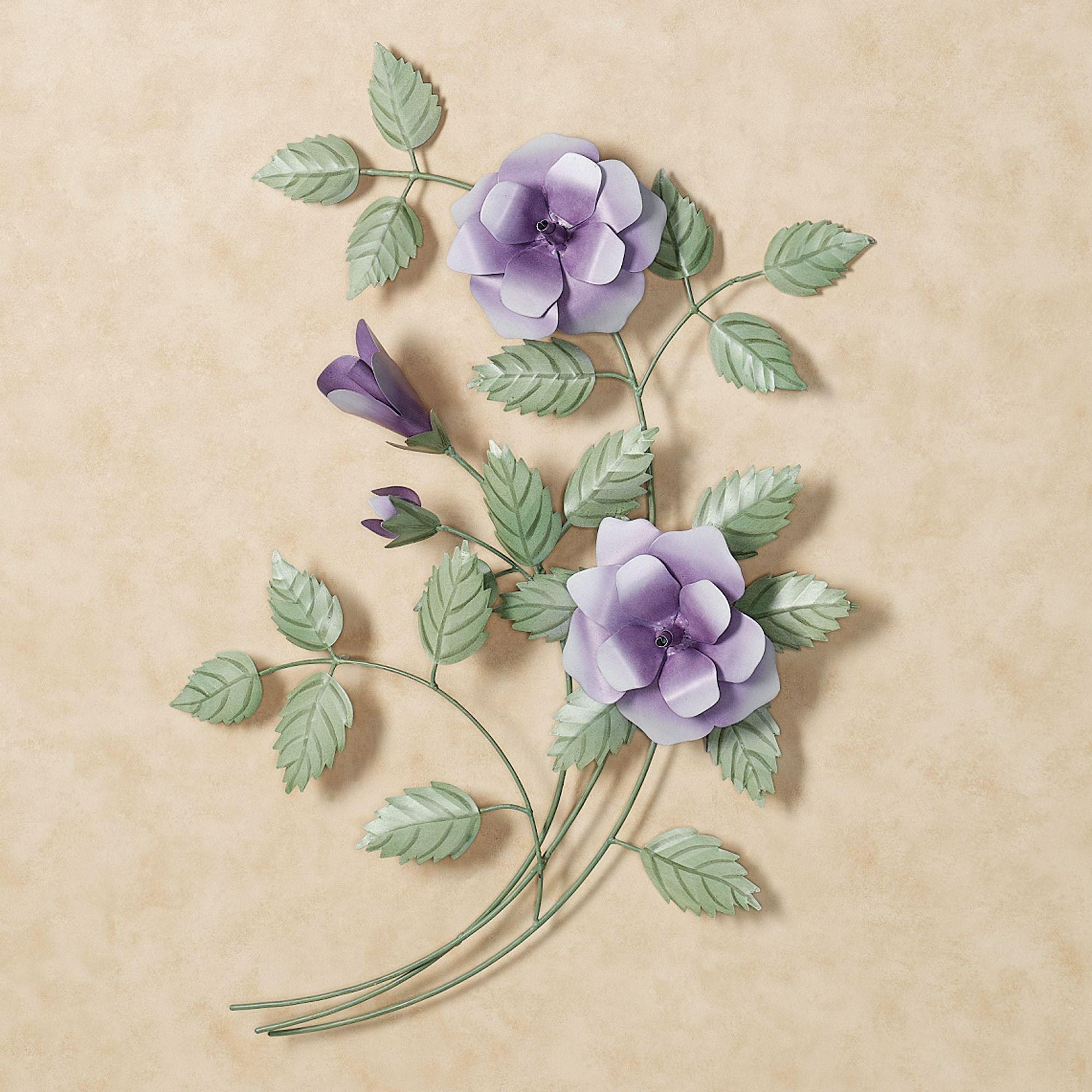 Flower Metal Wall Sculptures | Touch Of Class With Regard To Purple Flower Metal Wall Art (Image 11 of 20)