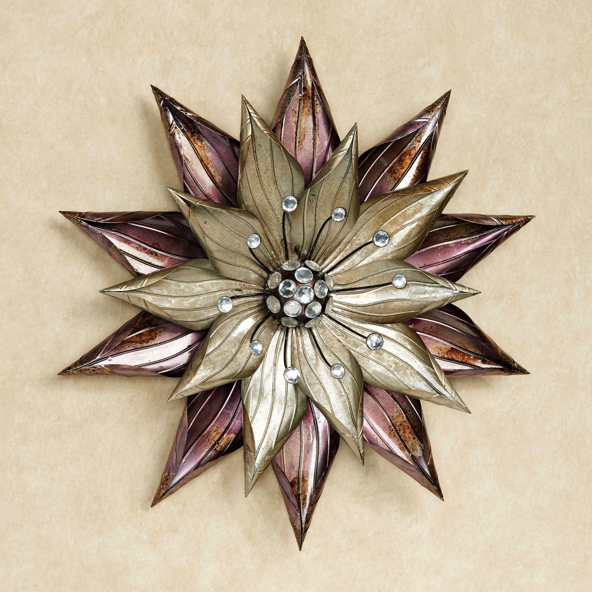Flower Wall Art | Touch Of Class For Purple Flower Metal Wall Art (Image 13 of 20)
