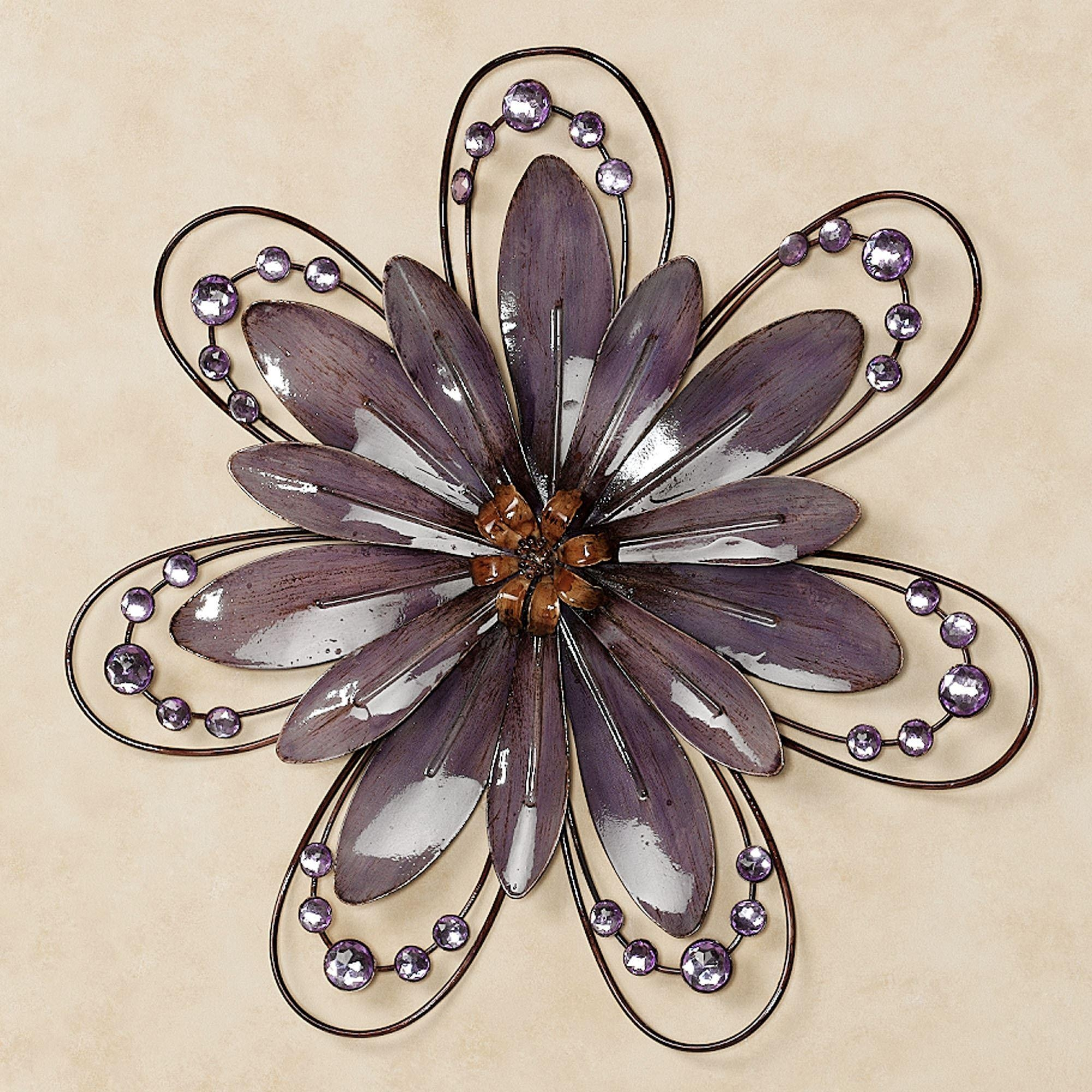 Flower Wall Art | Touch Of Class For Purple Flower Metal Wall Art (Image 12 of 20)