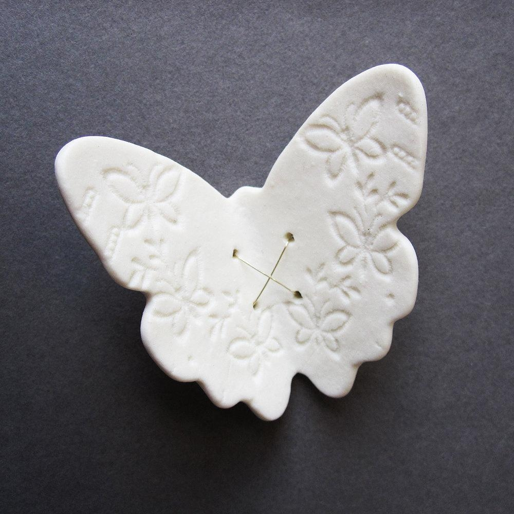 Flutter Butterfly White Porcelain Wall Art Sculpture Ceramic With Regard To Ceramic Butterfly Wall Art (Image 17 of 20)