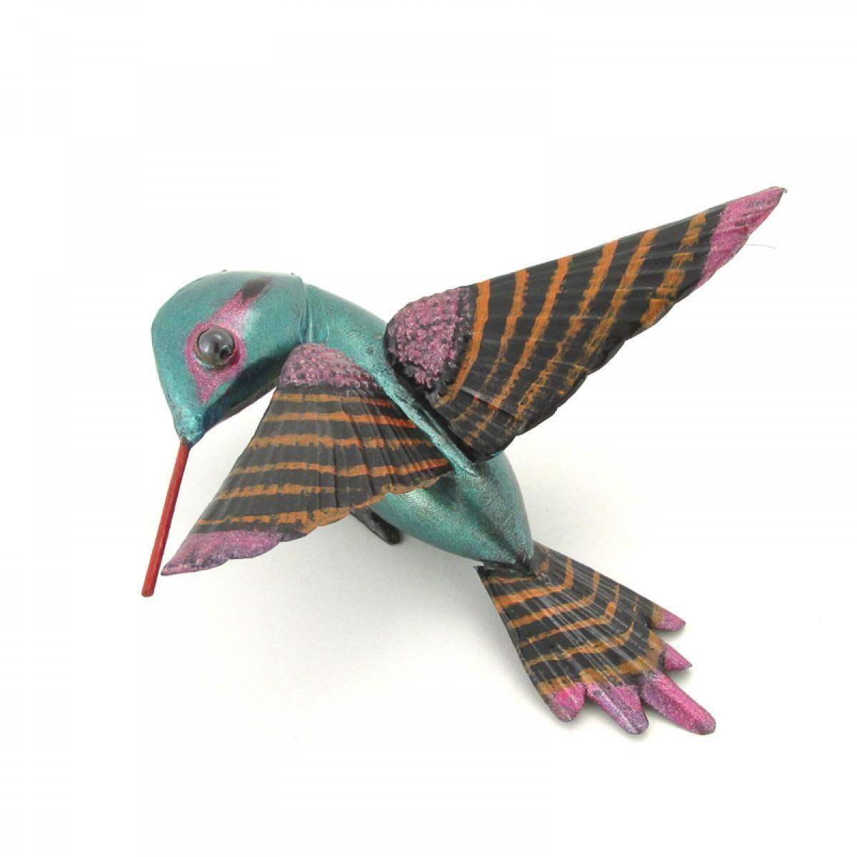 Flying Hummingbird Sheet Metal Art Mexico In Mexican Metal Art (Image 10 of 20)