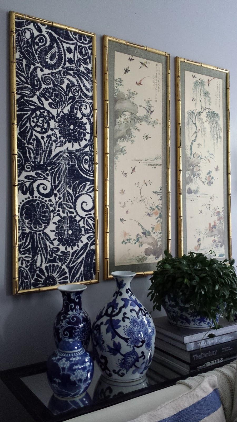 Focal Point Styling: Diy Indigo Wall Art With Framed Fabric In Framed Fabric Wall Art (View 10 of 20)