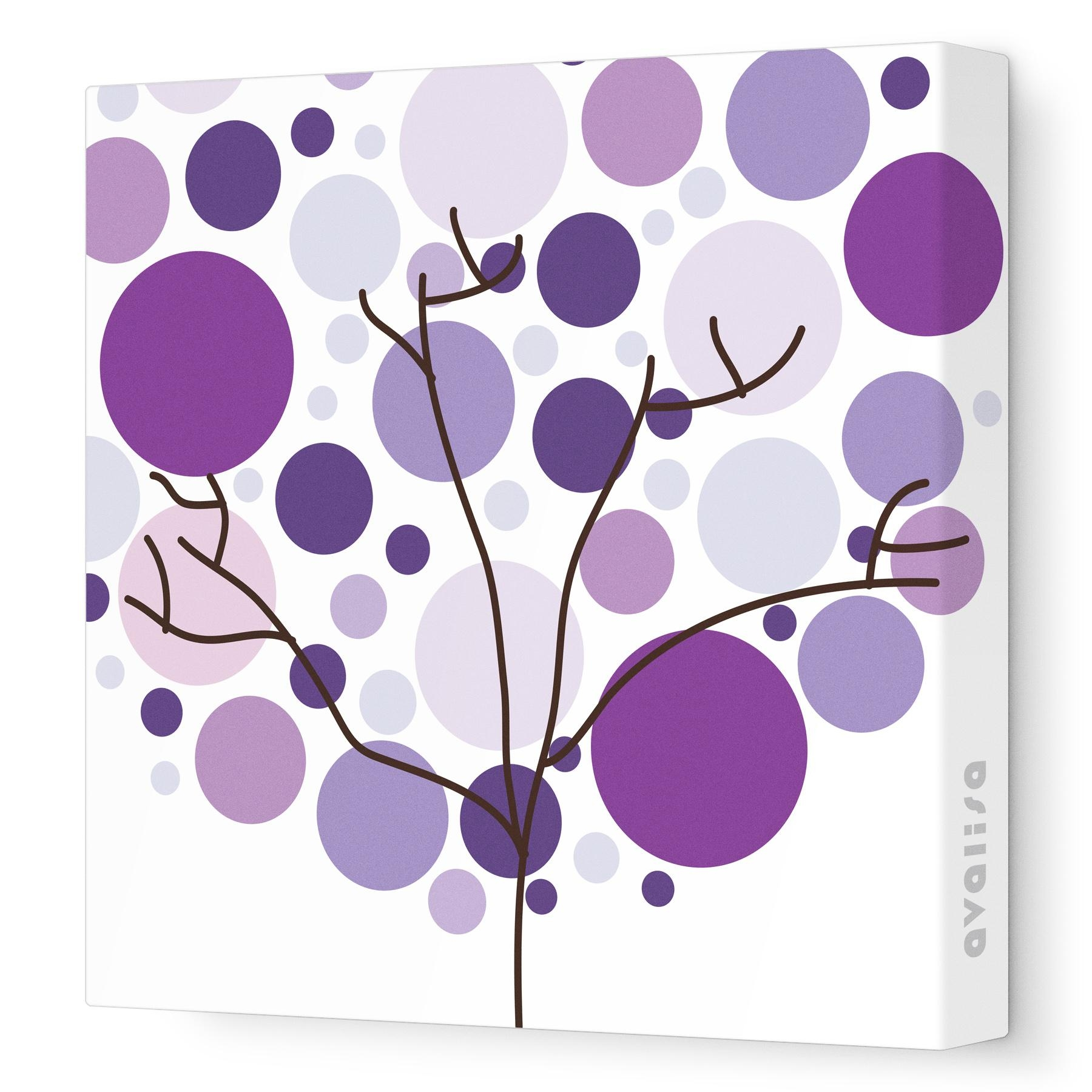 Foliage – Canvas Wall Art :: Imaginations | Avalisa Inside Purple Wall Art Canvas (View 15 of 20)