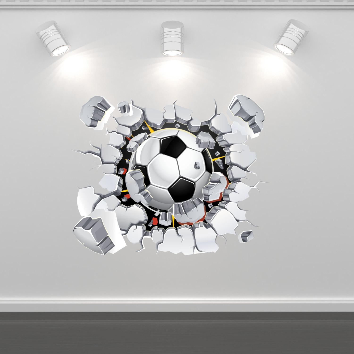 Football Soccer Wall Art Sticker Mural Decal Graphic Boys With Regard To Graphic Design Wall Art (Image 6 of 20)