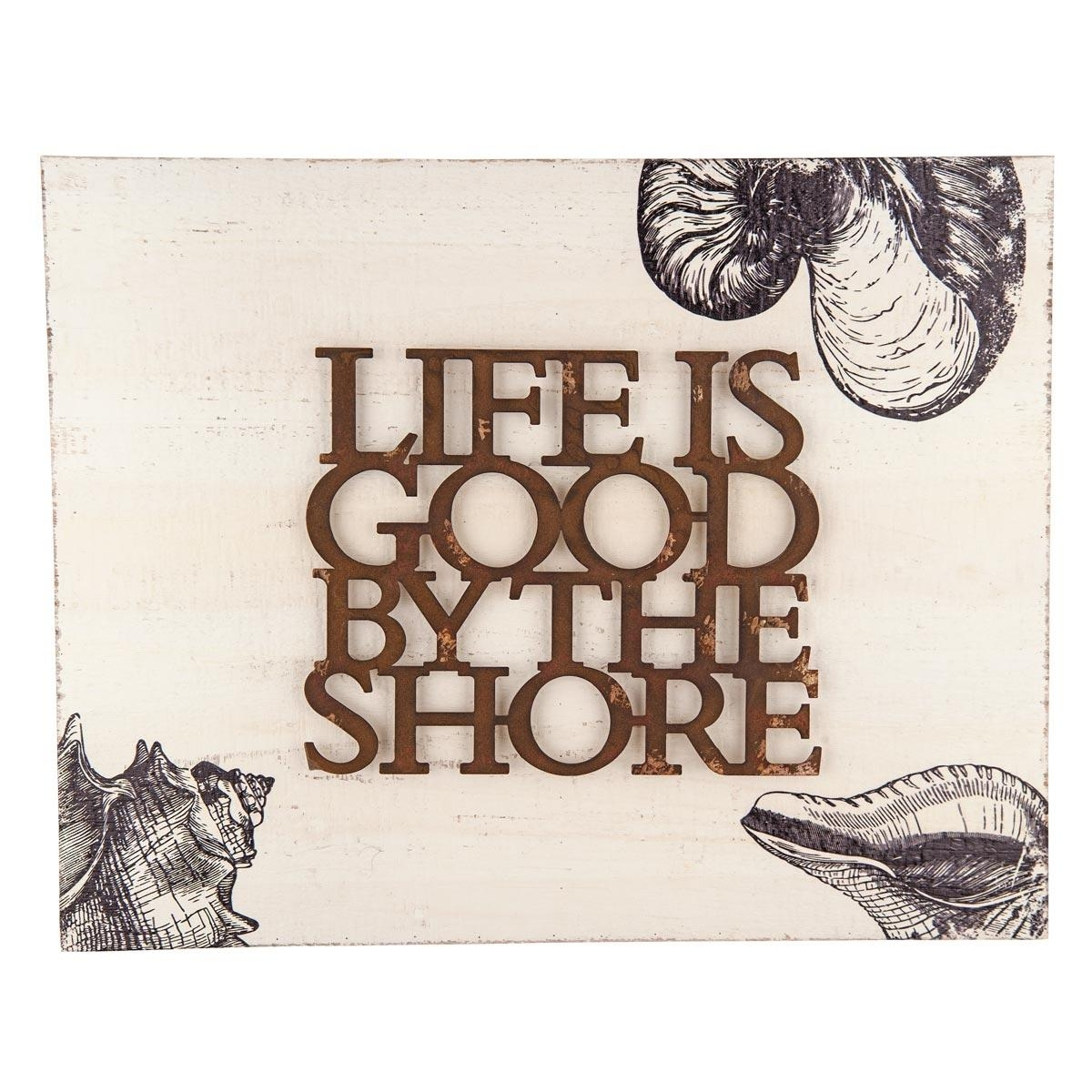 Foreside Home & Garden – Life Is Goodthe Shore Wall Art Inside Life Is Good Wall Art (Image 6 of 20)