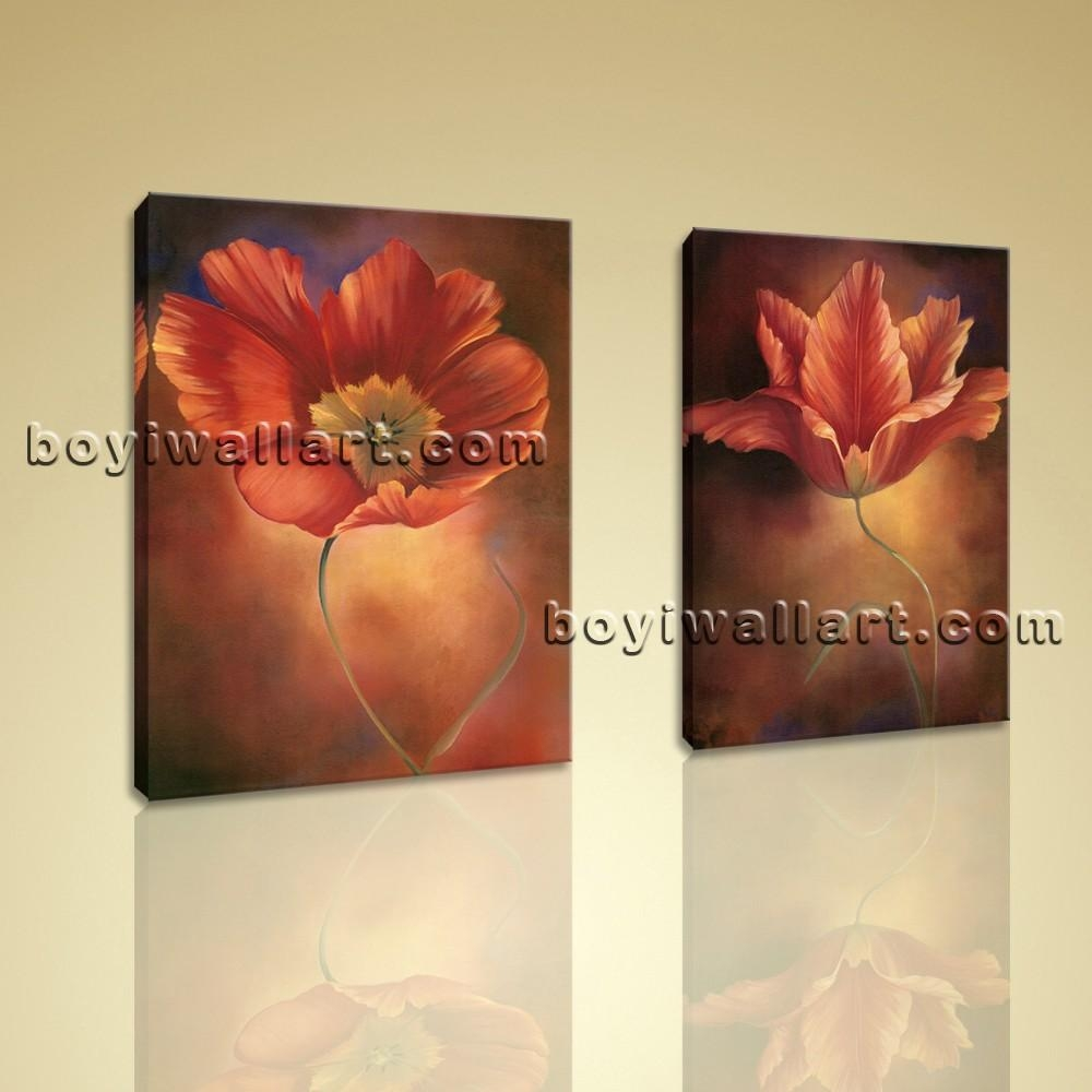 Framed Abstract Floral Giclee Prints On Canvas Wall Art For Living With Regard To Floral Wall Art Canvas (Image 11 of 20)