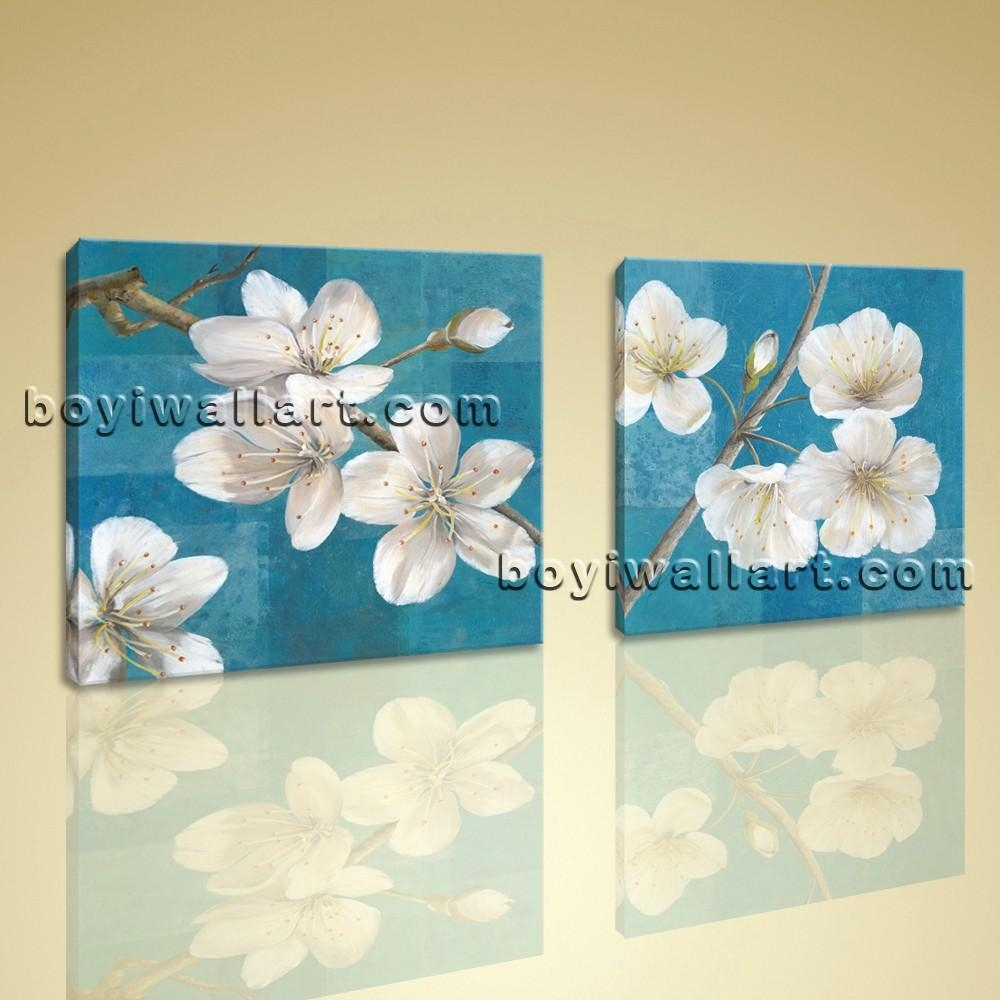 Framed Abstract Floral Giclee Prints On Canvas Wall Art Throughout Floral Wall Art Canvas (Image 12 of 20)