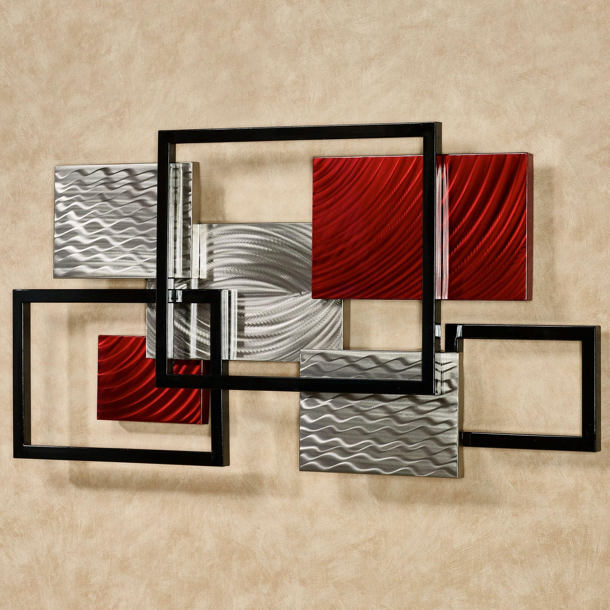 Framed Array Indoor Outdoor Abstract Metal Wall Sculpture Intended For Contemporary Metal Wall Art Sculpture (Image 5 of 20)