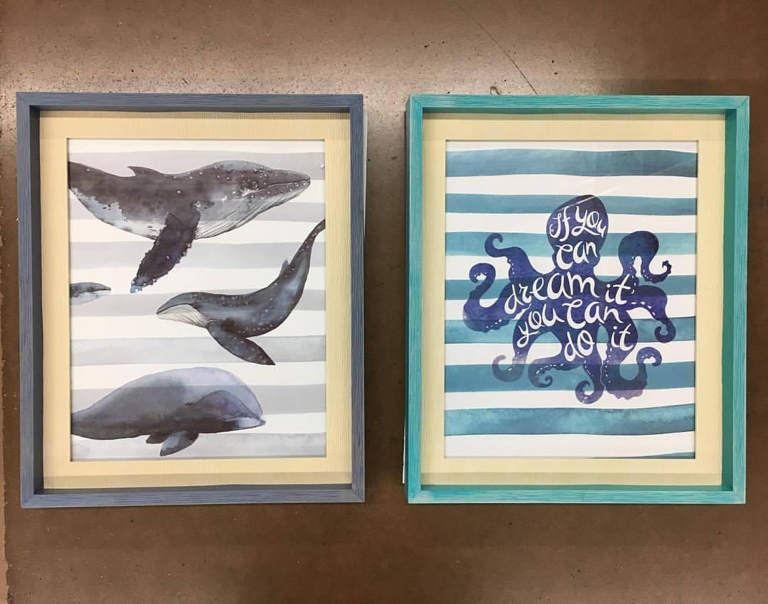 Framed Art Pieces For Only $5!! 😍🐳🐙 Found On An | Whoa, Wait Pertaining To Walmart Framed Art (Image 5 of 20)