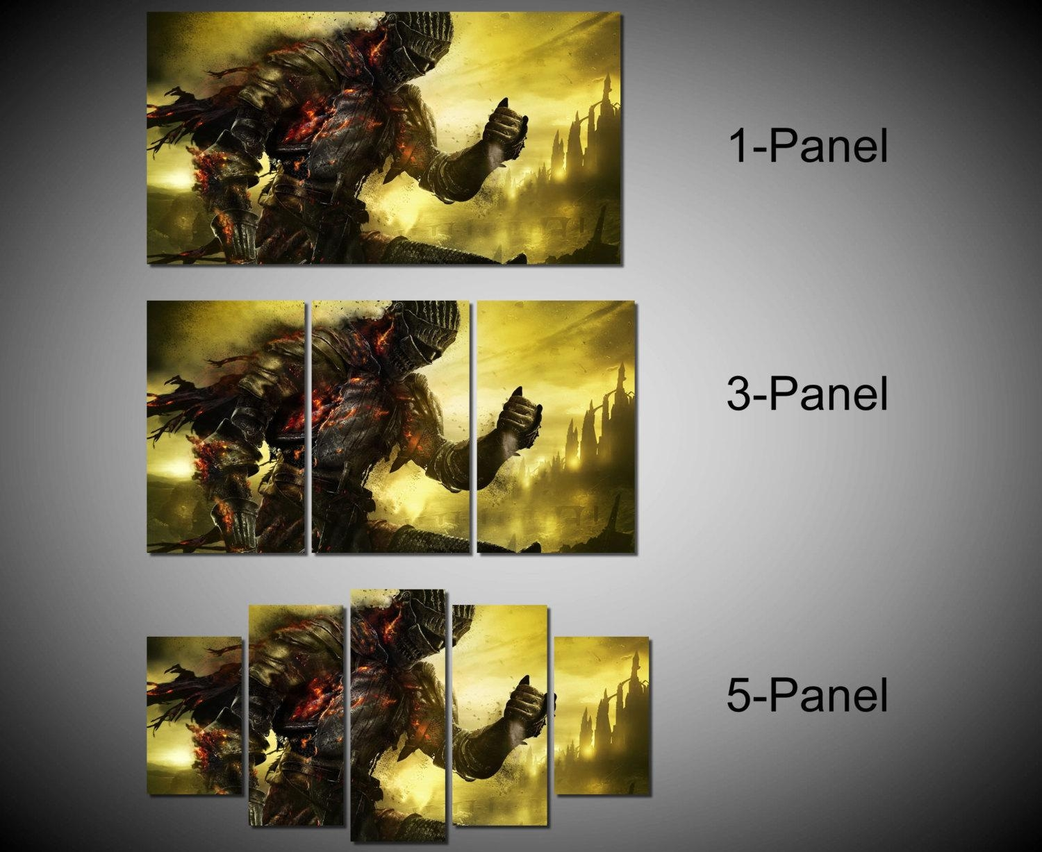 Framed Dark Souls 3 Video Games Wall Canvas Art Ready To Throughout Video Game Wall Art (Image 8 of 20)