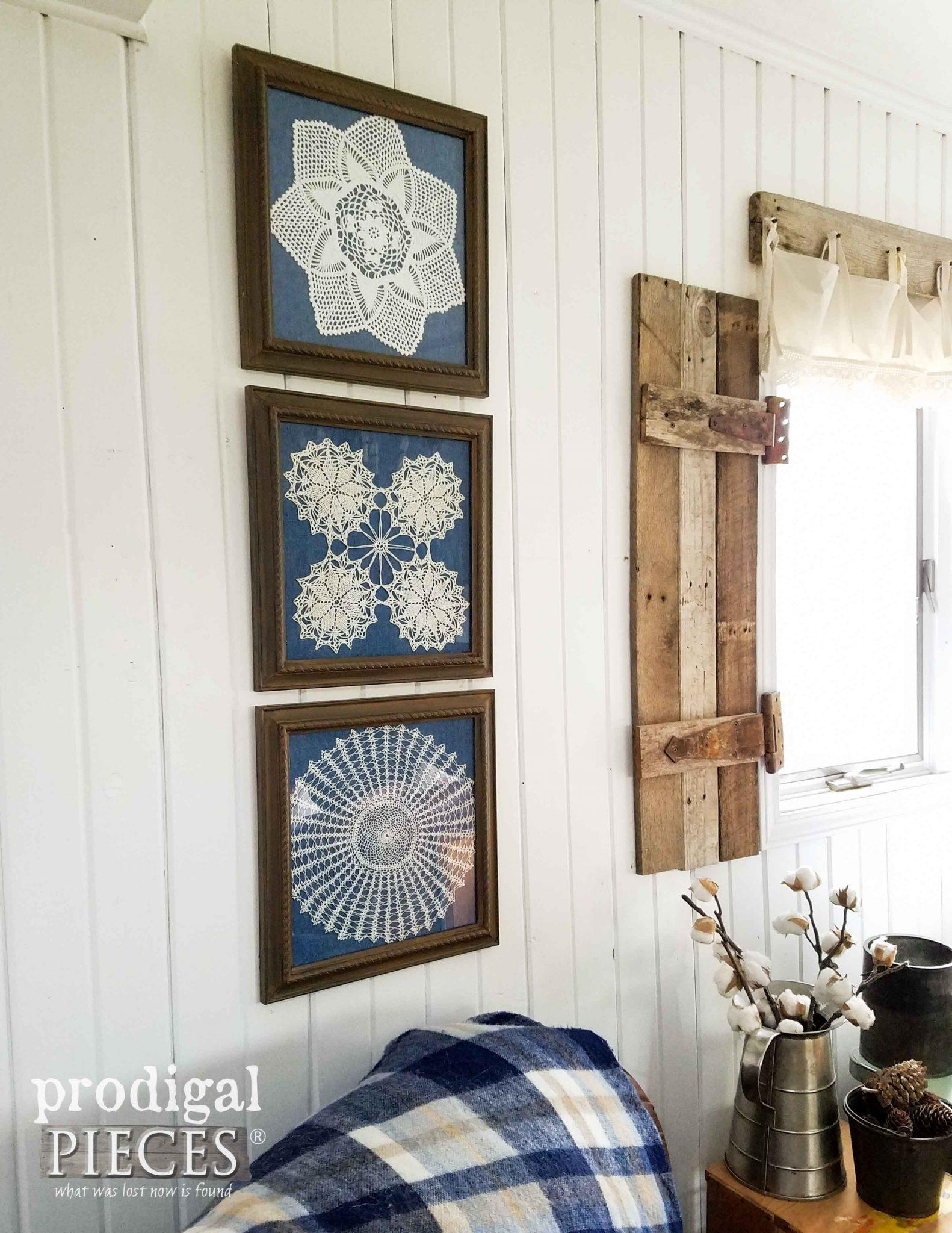 Framed Doily Wall Art – Prodigal Pieces Regarding Farmhouse Wall Art (Image 16 of 20)