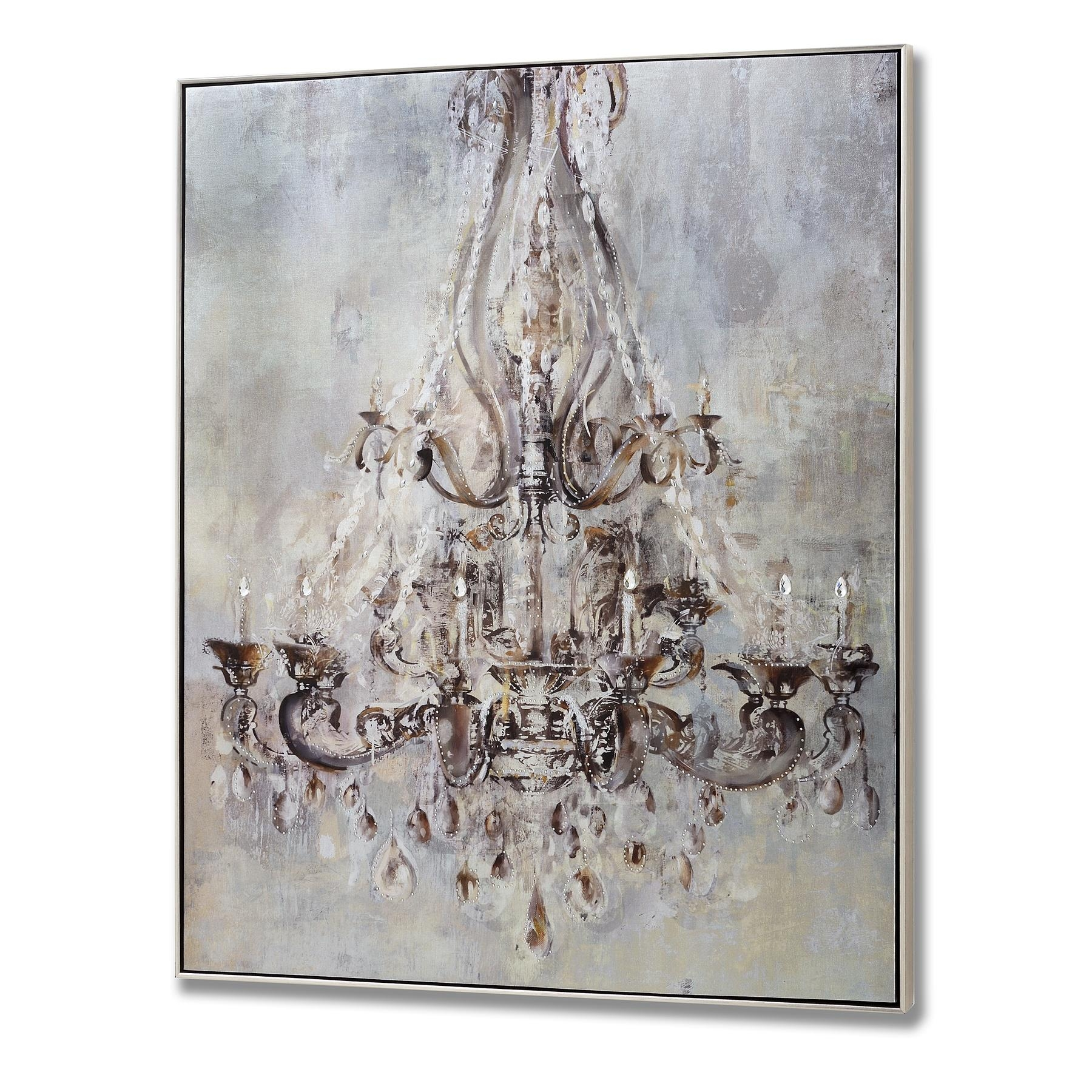 Framed Metalic Chandelier Wall Art With Metal Studs From Hill Inside Metal Framed Wall Art (Image 9 of 20)