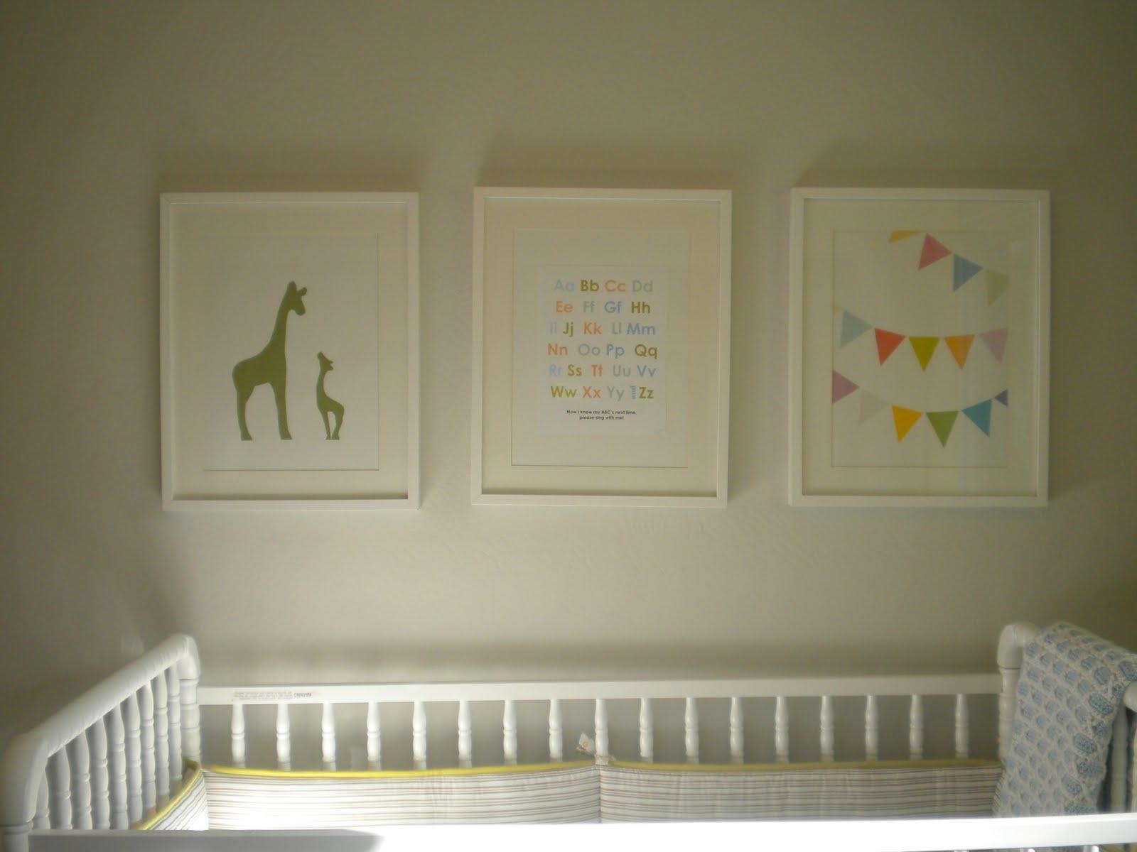 Framed Nursery Art ~ Thenurseries Intended For Nursery Framed Wall Art (Image 8 of 20)