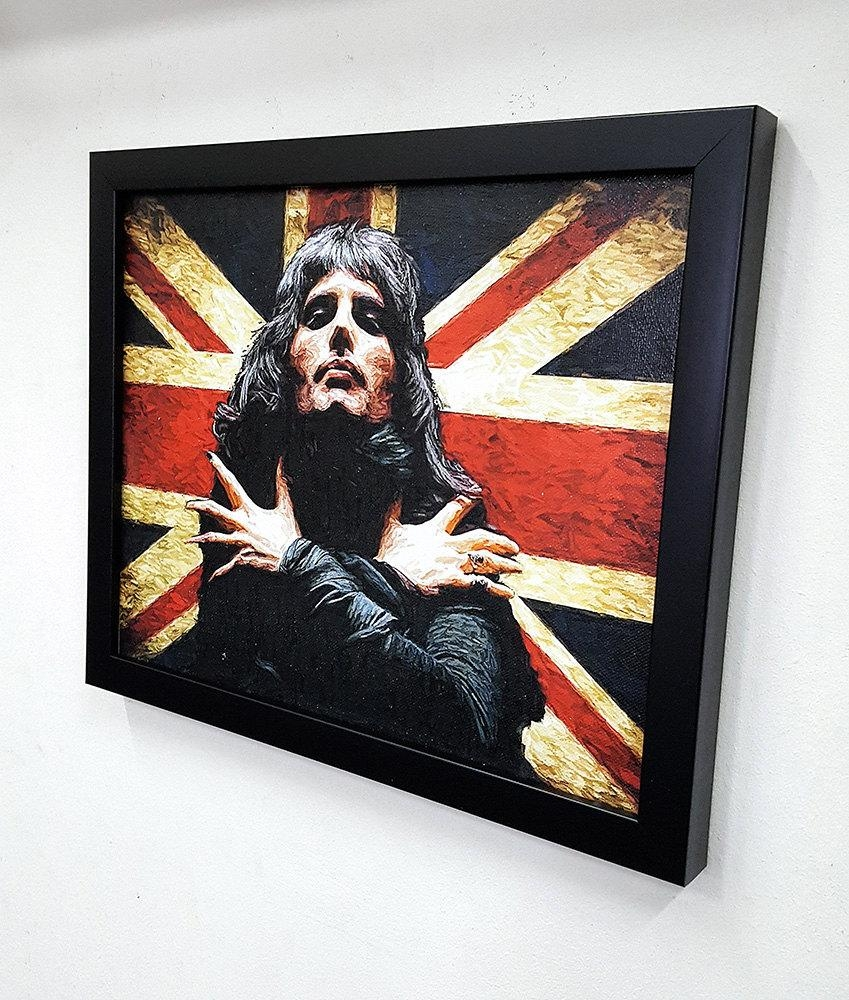 Freddie Mercury The Queen  Framed – Wall Art Giclee Canvas Paint For Freddie Mercury Wall Art (Image 8 of 20)