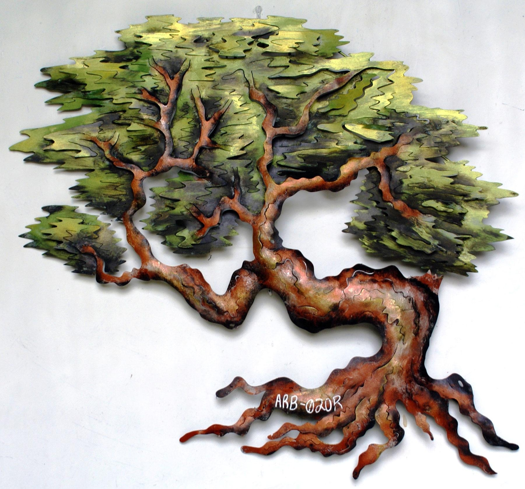 Free Form Gnarled Bonsai Metal Wall Artandres Martin Del Campo Throughout Metal Oak Tree Wall Art (Image 3 of 20)