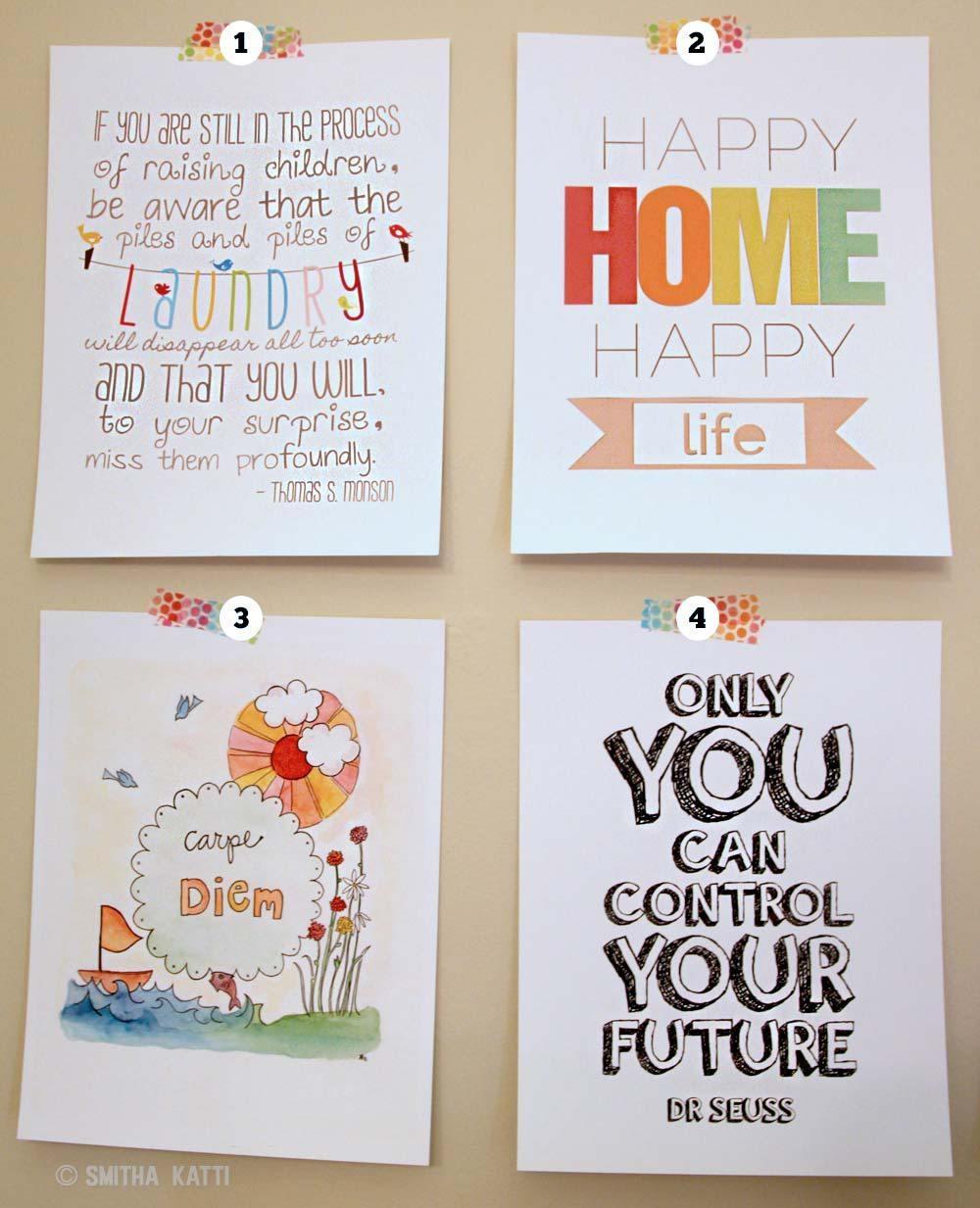 Free Printable Gallery Wall Art - Smitha Katti regarding Vibrant Wall Art