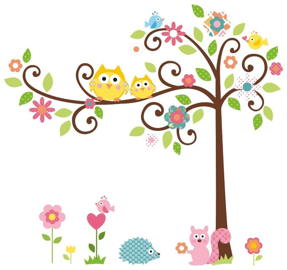 Free Shipping Animal Cartoon Wall Sticker Decal Wall Dacals For With Children Wall Art (View 11 of 20)
